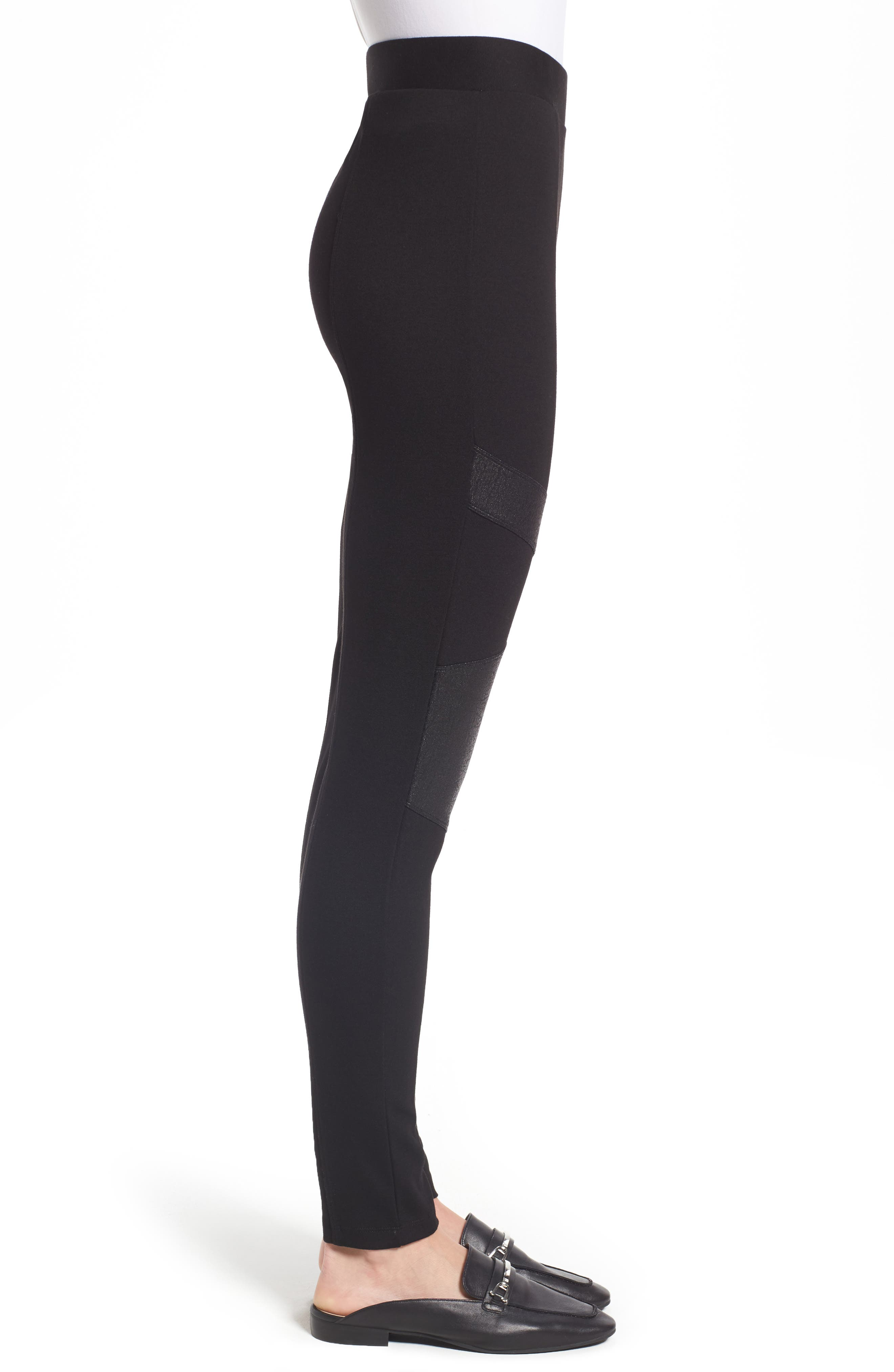 Alternate Image 3  - Two by Vince Camuto Lacquer Inset Moto Leggings (Regular & Petite)