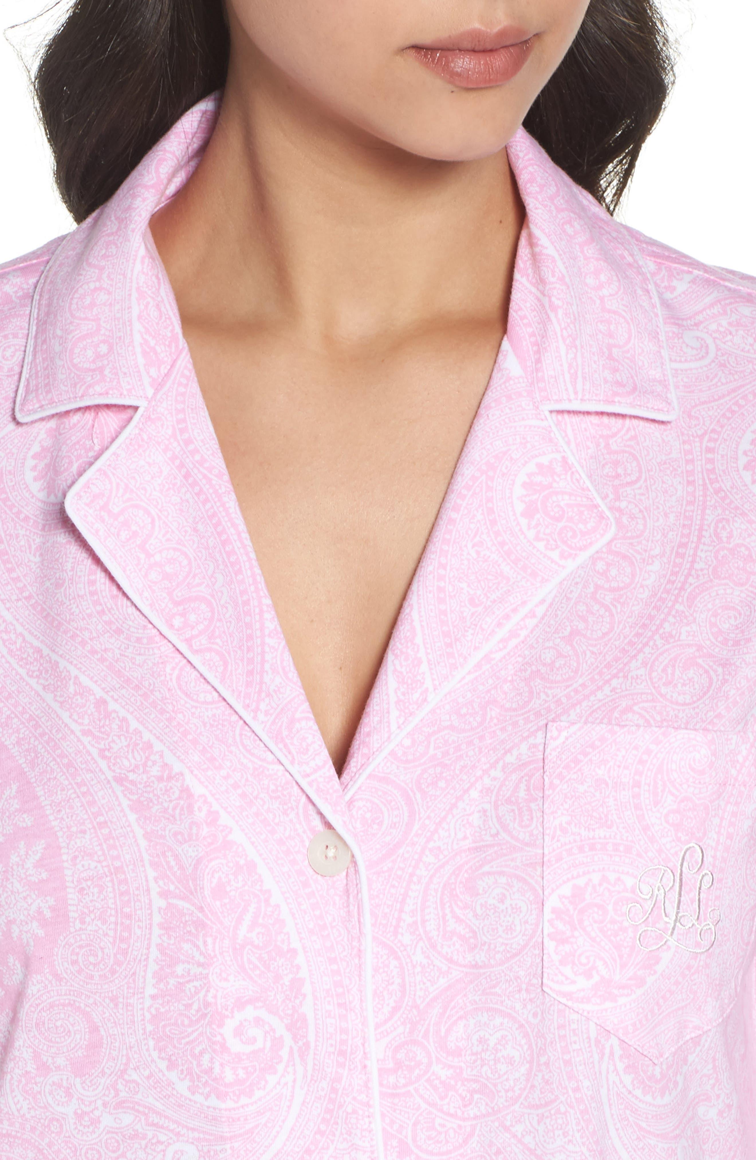 Alternate Image 5  - Lauren Ralph Lauren Jersey Sleep Shirt (Online Only)