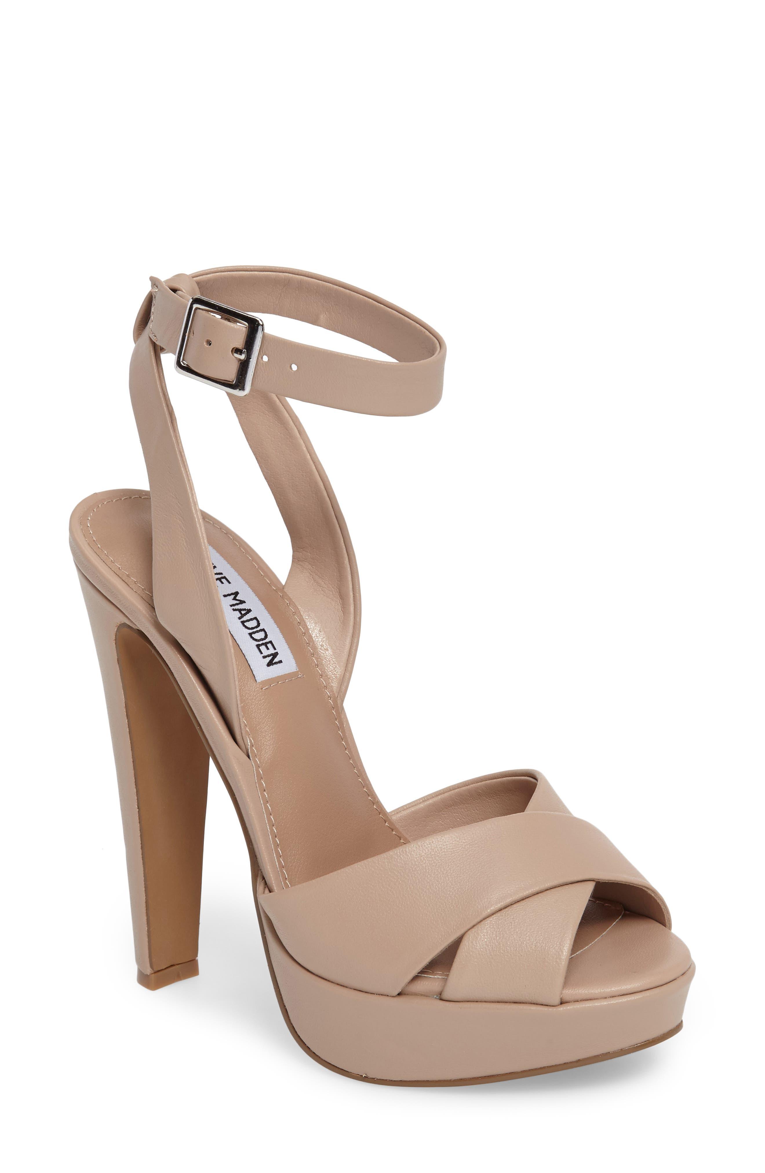 Alternate Image 1 Selected - Steve Madden Andrea Cross Strap Platform Sandal (Women)