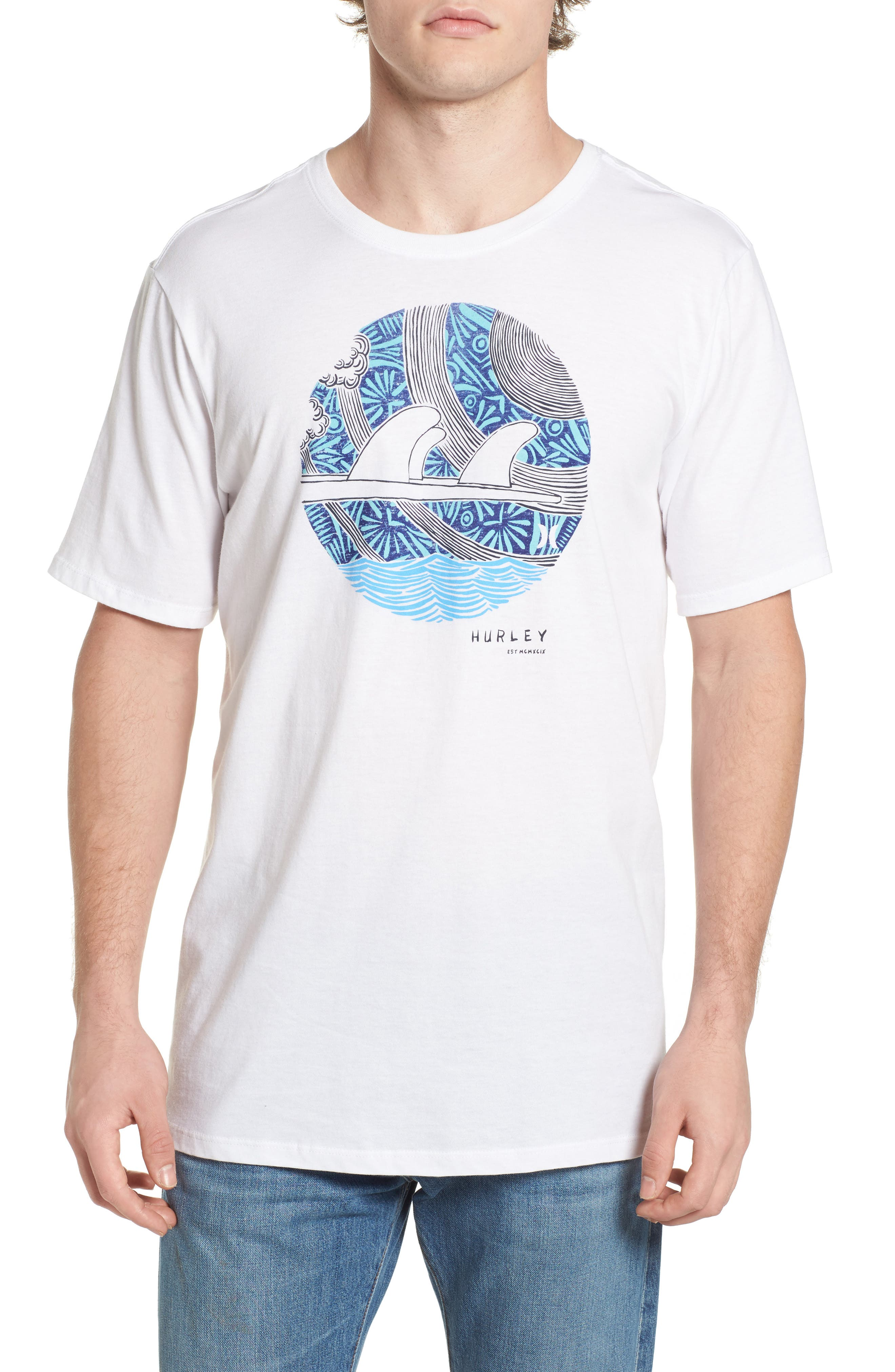 Hurley Surfboard Logo Graphic T-Shirt