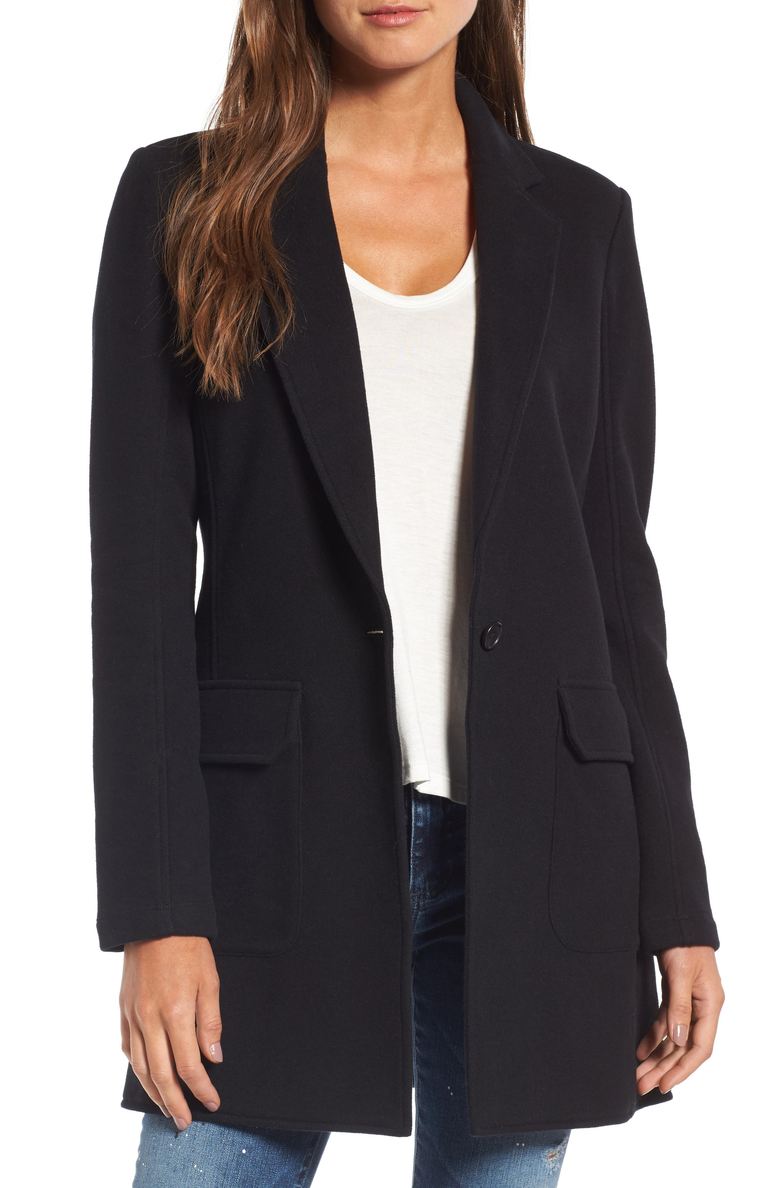 James Perse Brushed Fleece Long Jacket