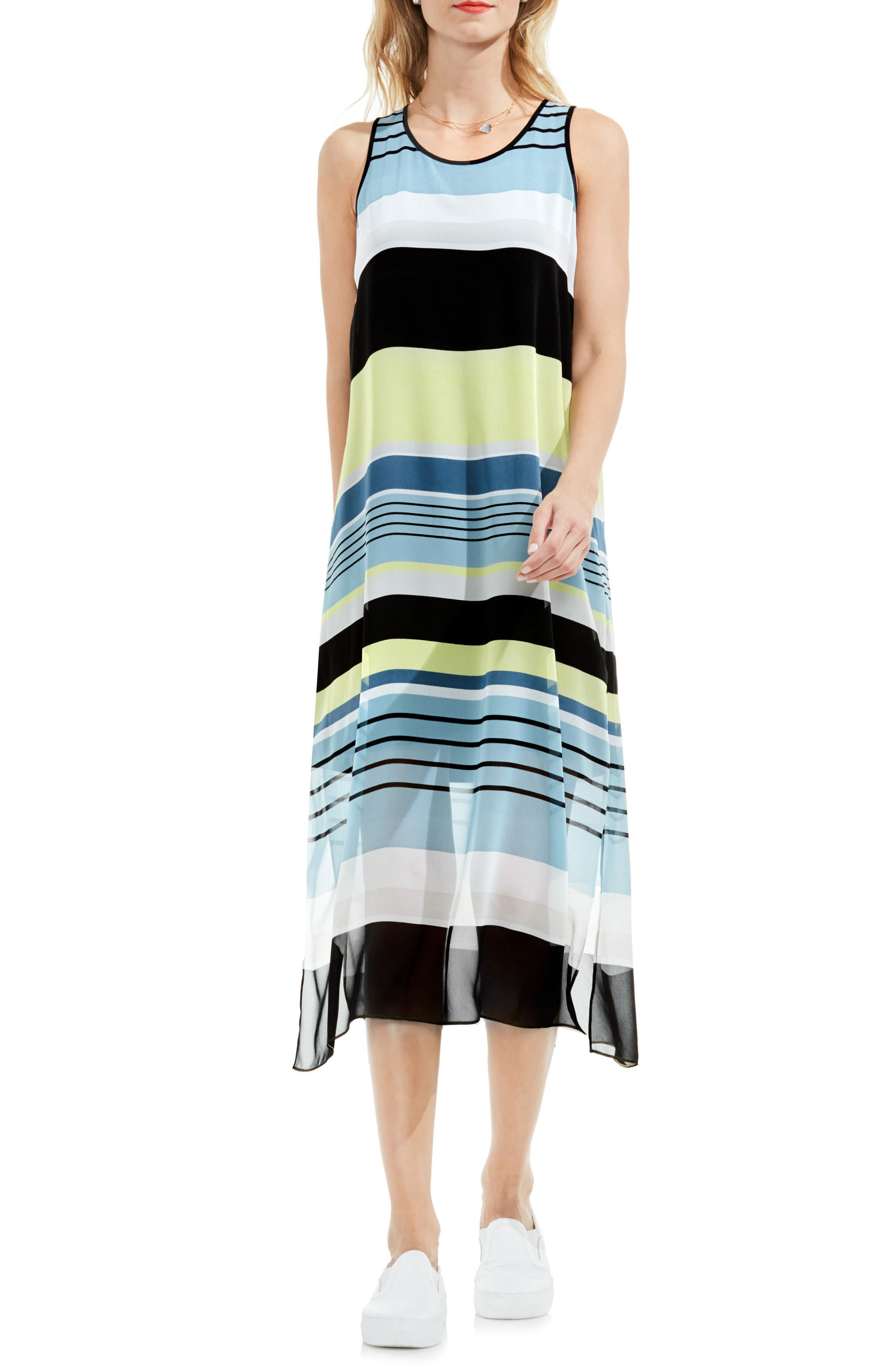 Vince Camuto Stripe Harmony A-Line Dress (Regular & Petite)