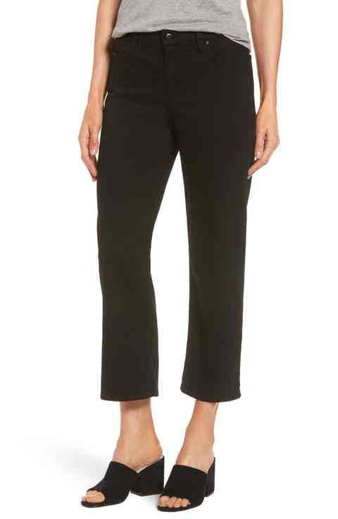 Eileen Fisher Wide Crop Jeans