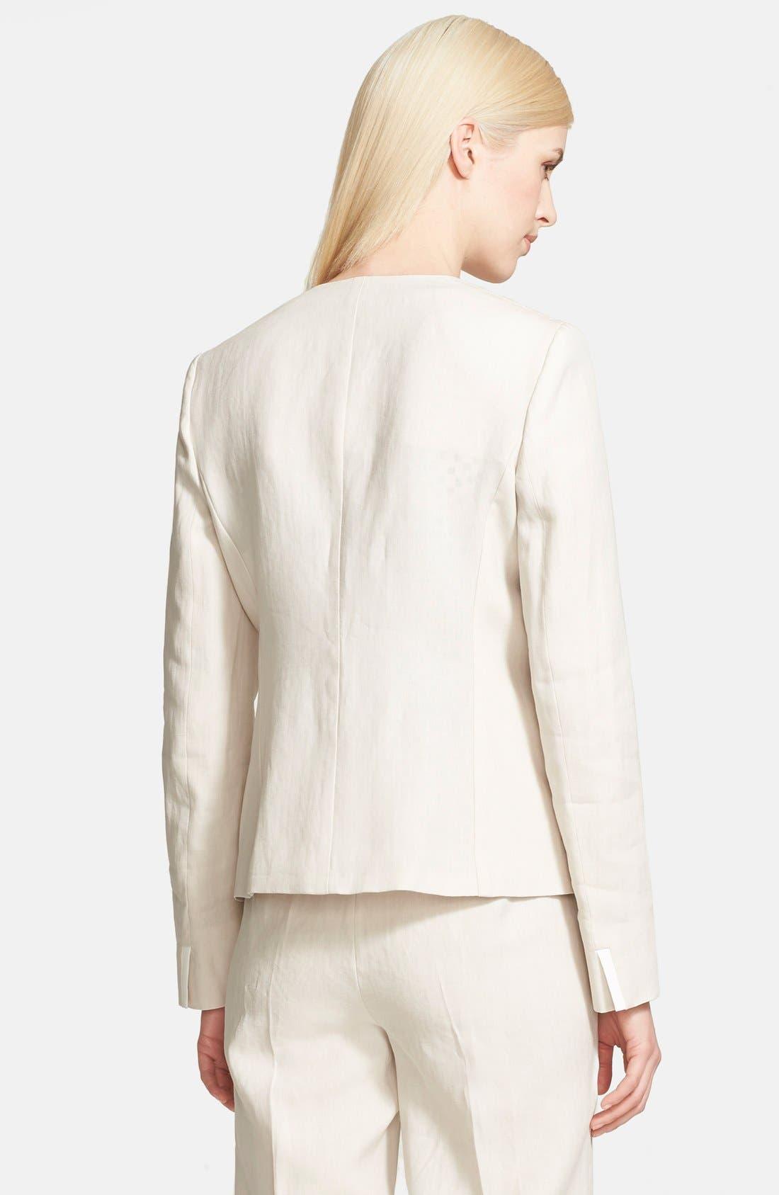 Alternate Image 2  - Max Mara 'Ghinea' One-Button Linen Jacket