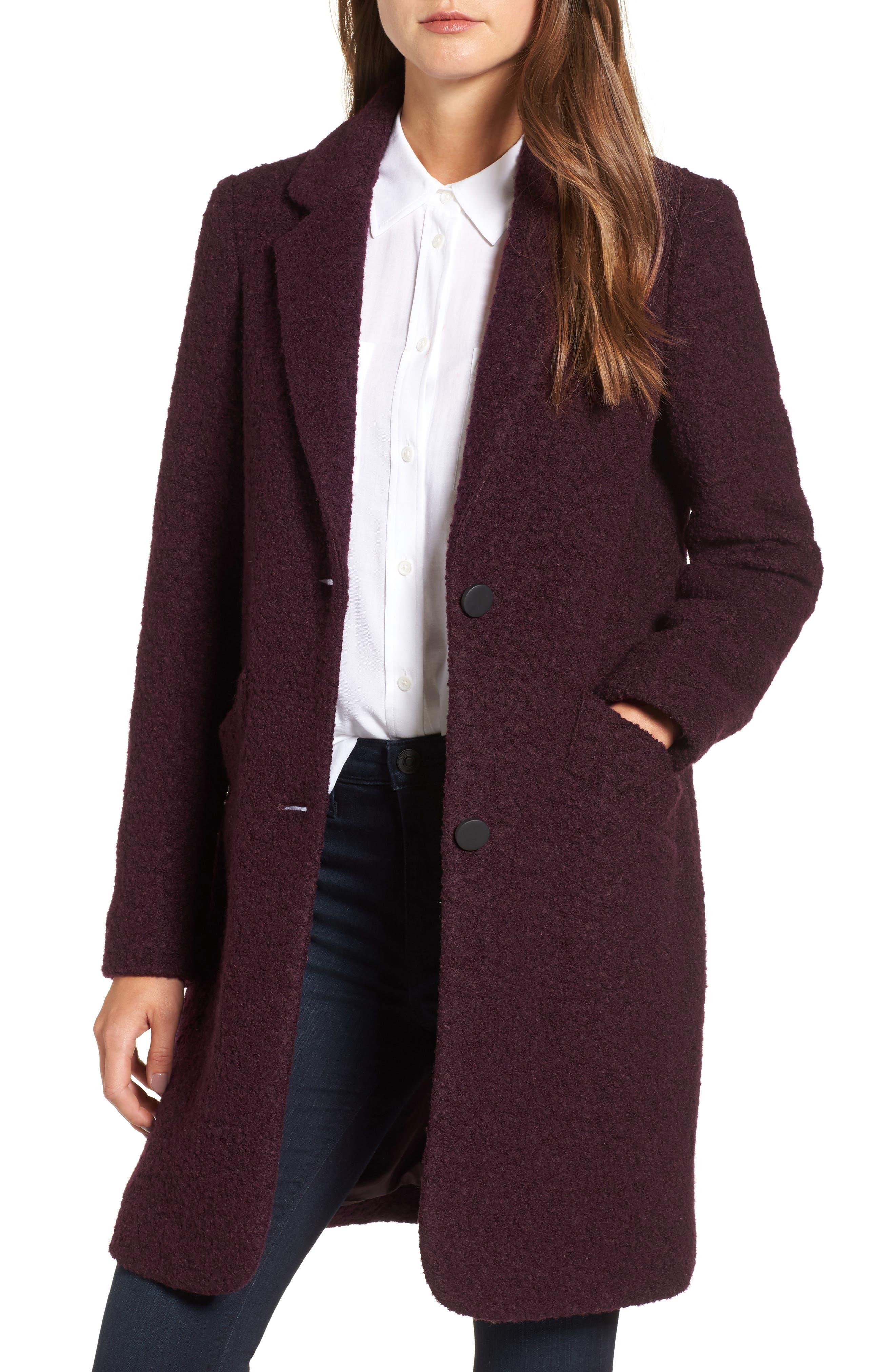 Alternate Image 1 Selected - Andrew Marc Paige Wool Blend Bouclé Coat