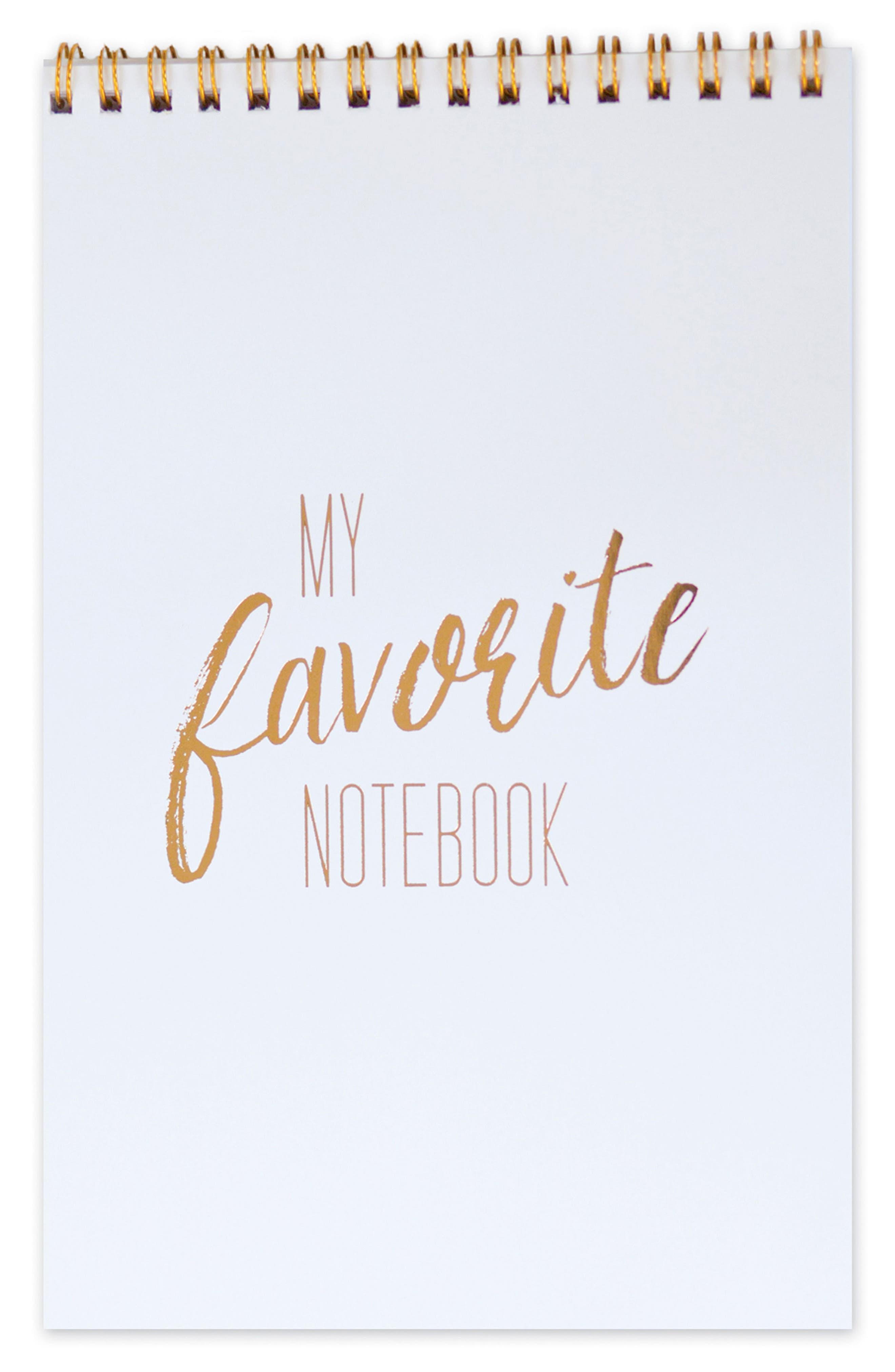 The Pink Orange My Favorite Spiral Notebook