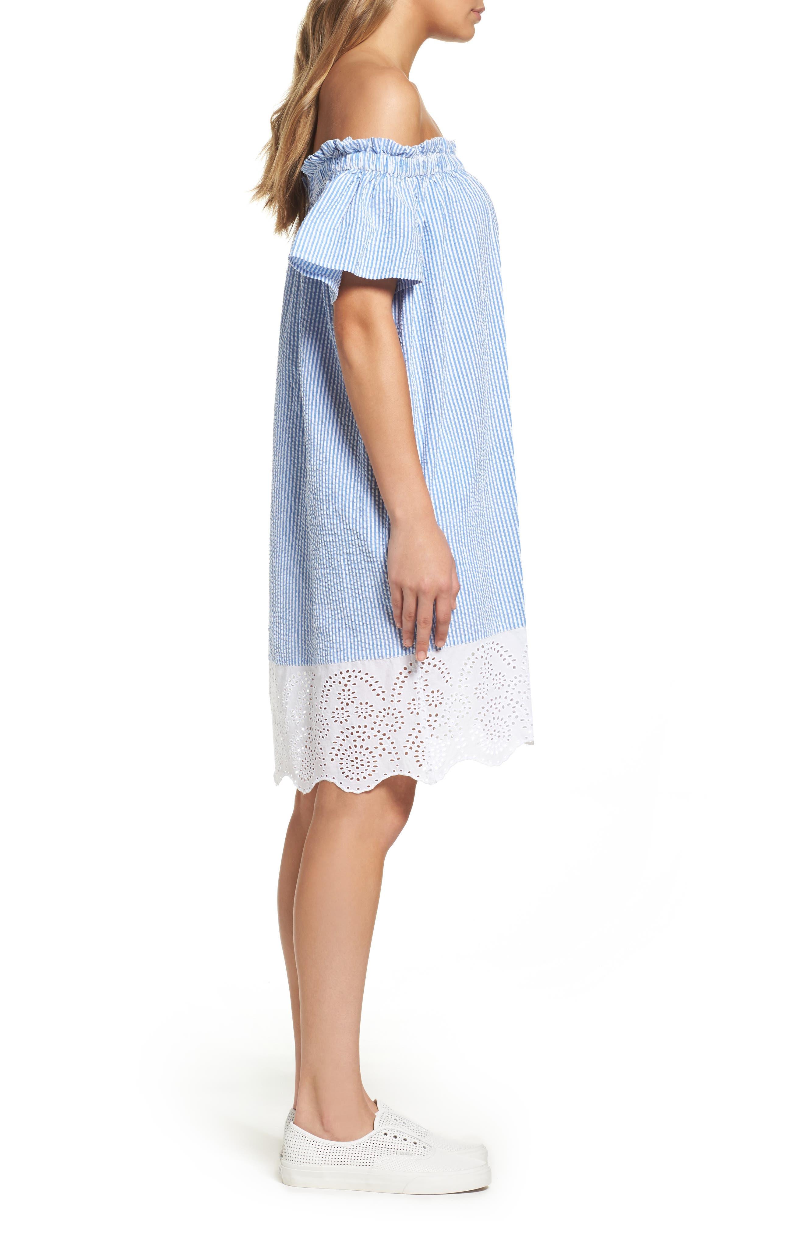 Alternate Image 3  - French Connection Belle Stripe Shift Dress