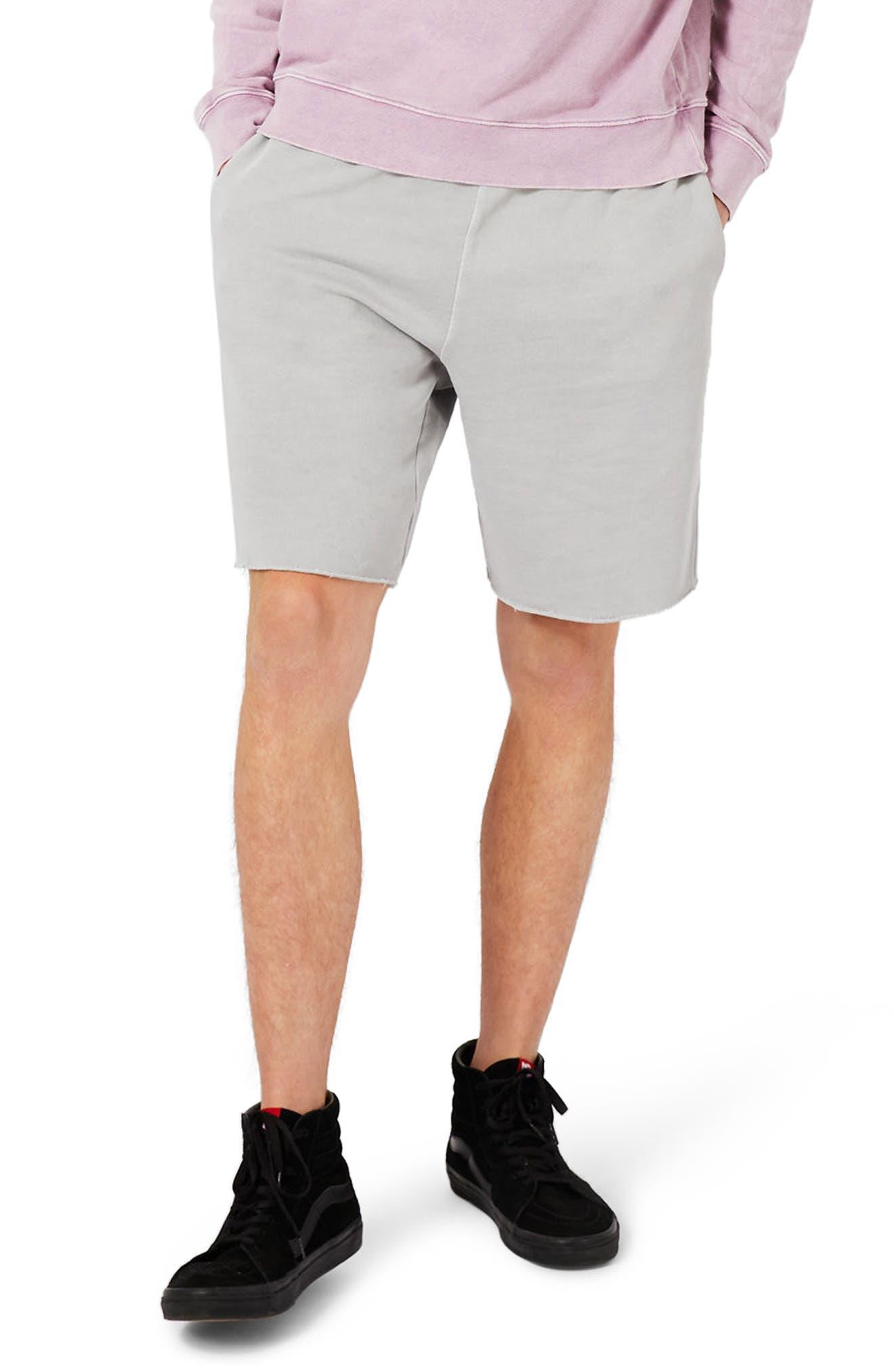 Topman Cutoff Jersey Sweat Shorts