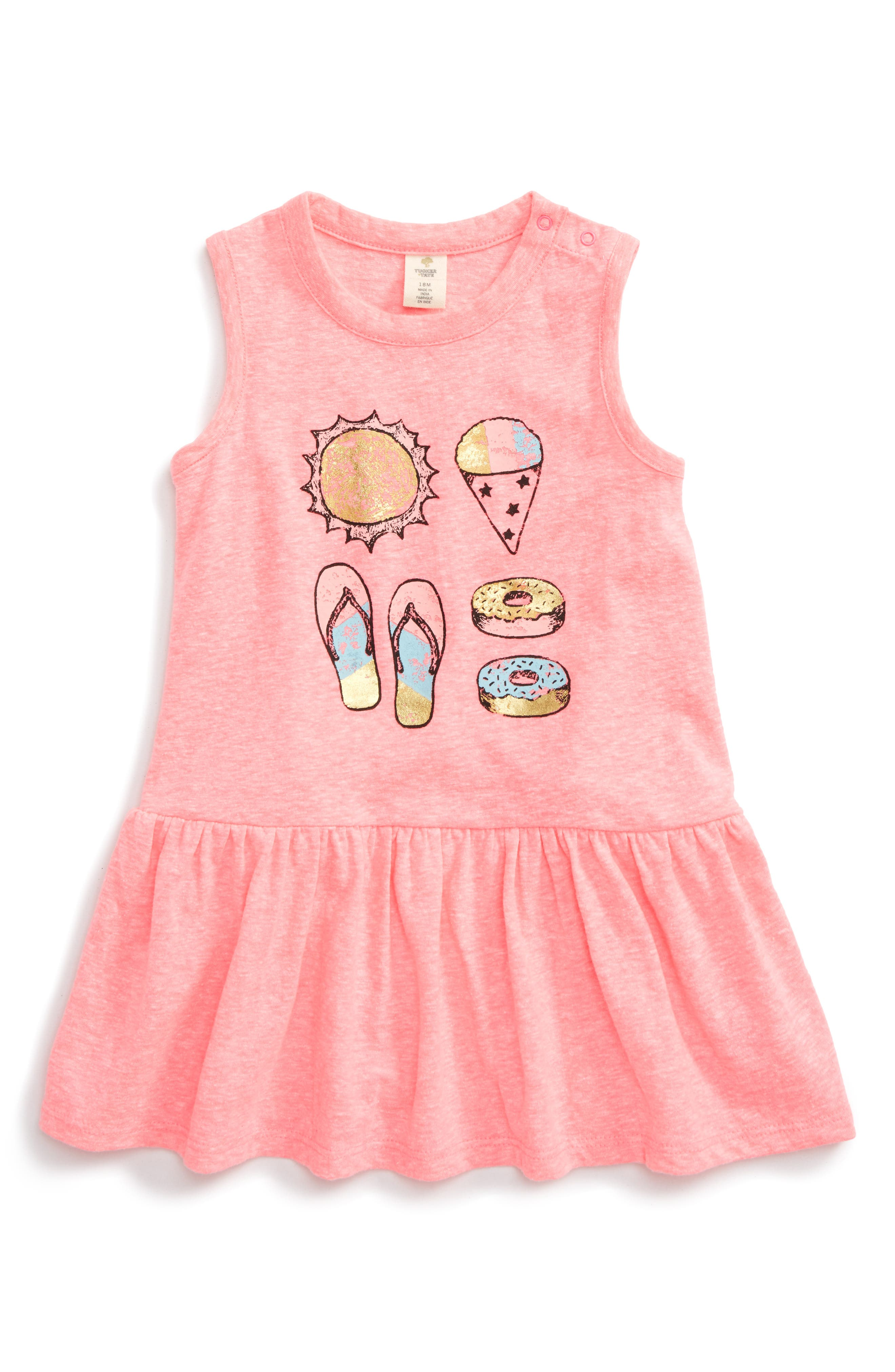 Tucker + Tate Graphic Print Tank Dress (Baby Girls)
