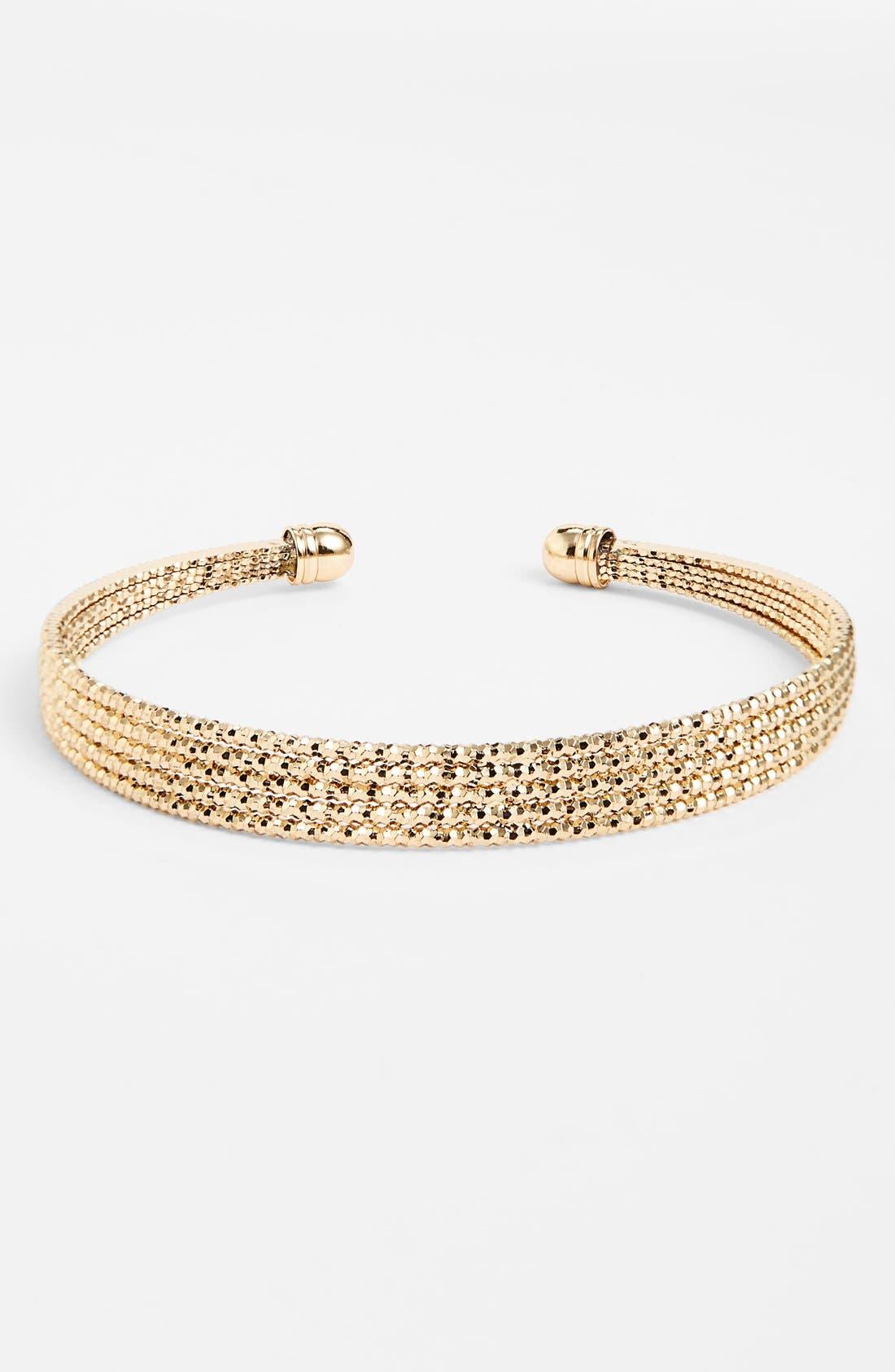 Main Image - BP. Skinny Metal Cuff Bracelet (Juniors)