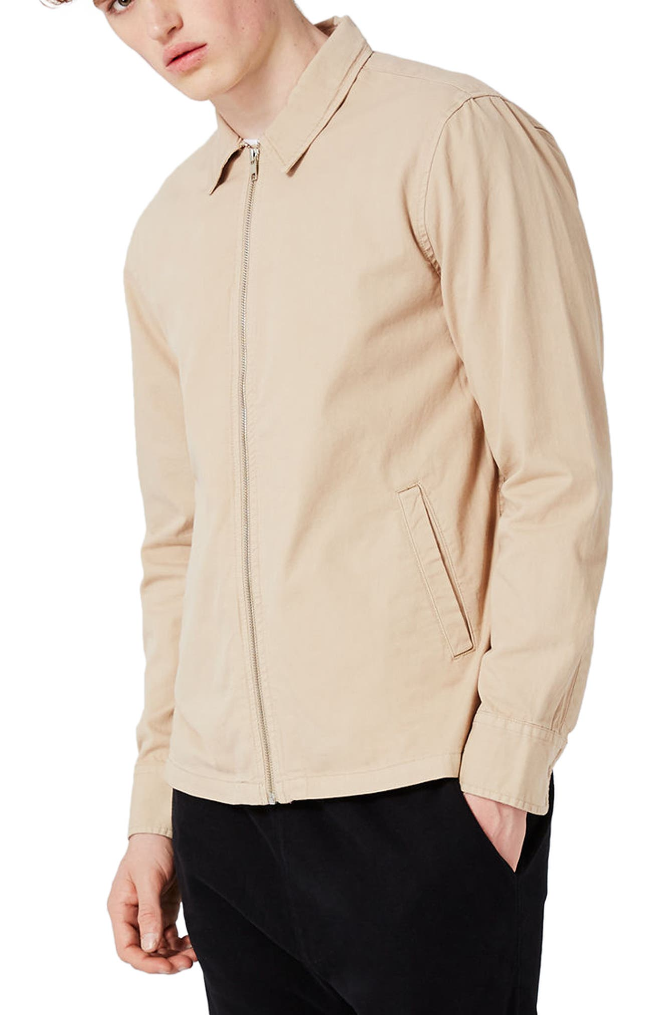 Topman Herringbone Zip Jacket