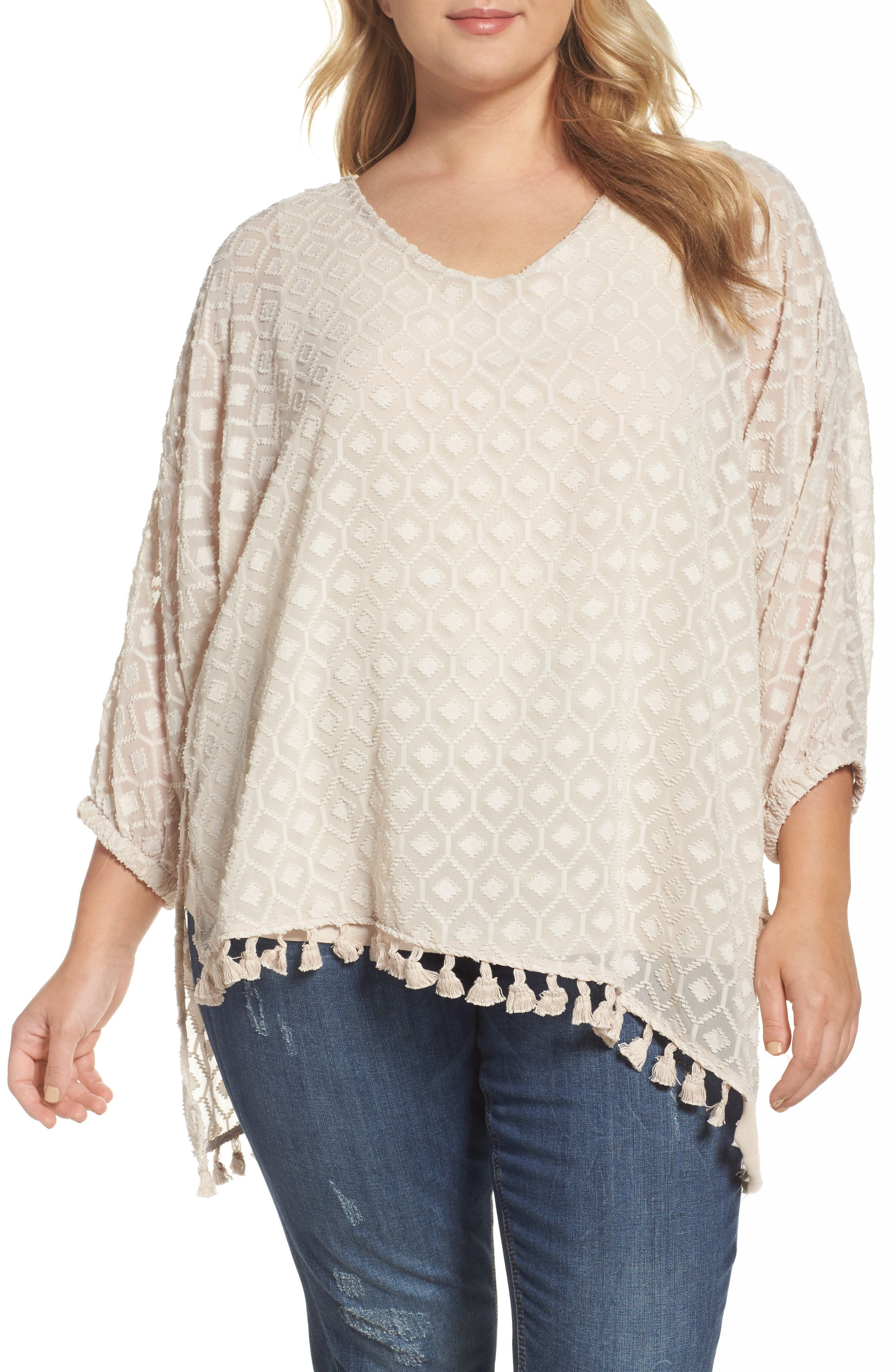 Democracy Clipped Asymmetrical Hem Top (Plus Size)