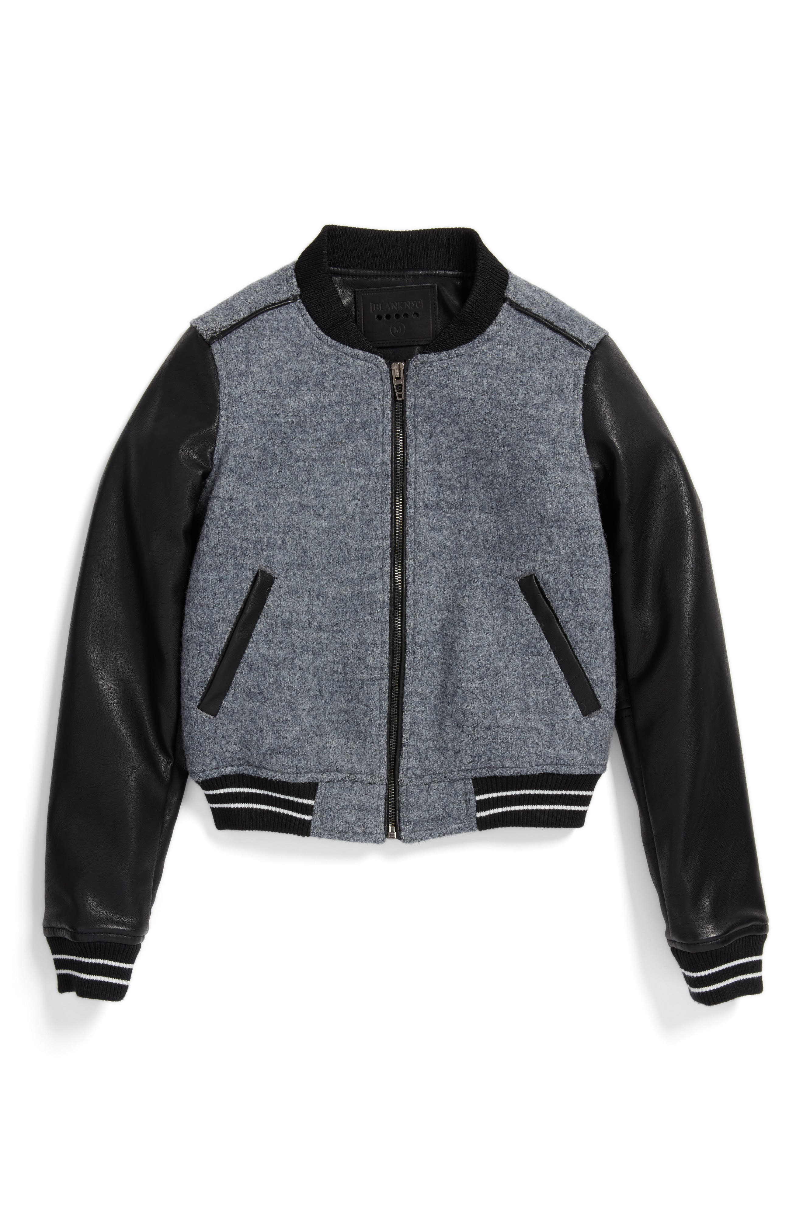 BLANKNYC Own the Night Bomber Jacket (Big Girls)