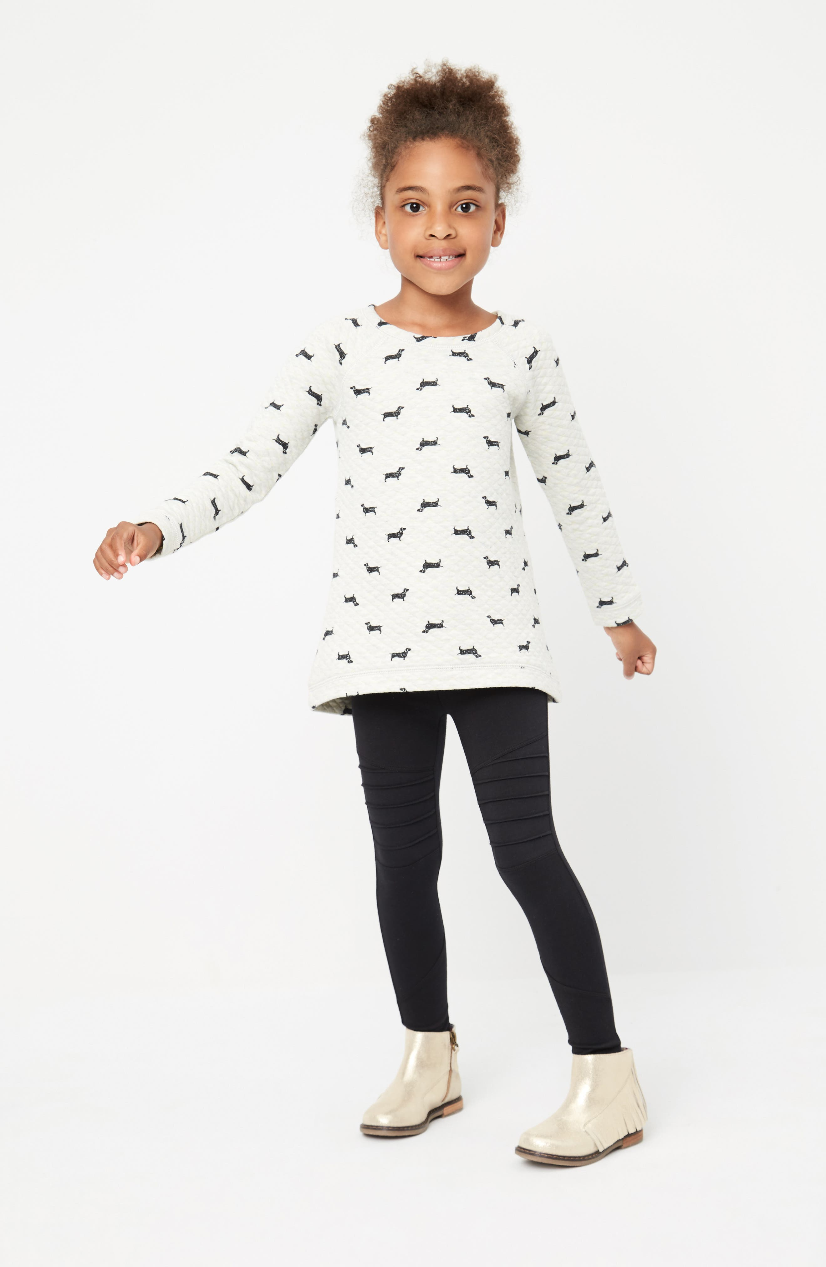 Tucker + Tate Sweatshirt & Leggings Outfit with Accessories (Toddler Girls, Little Girls & Big Girls)