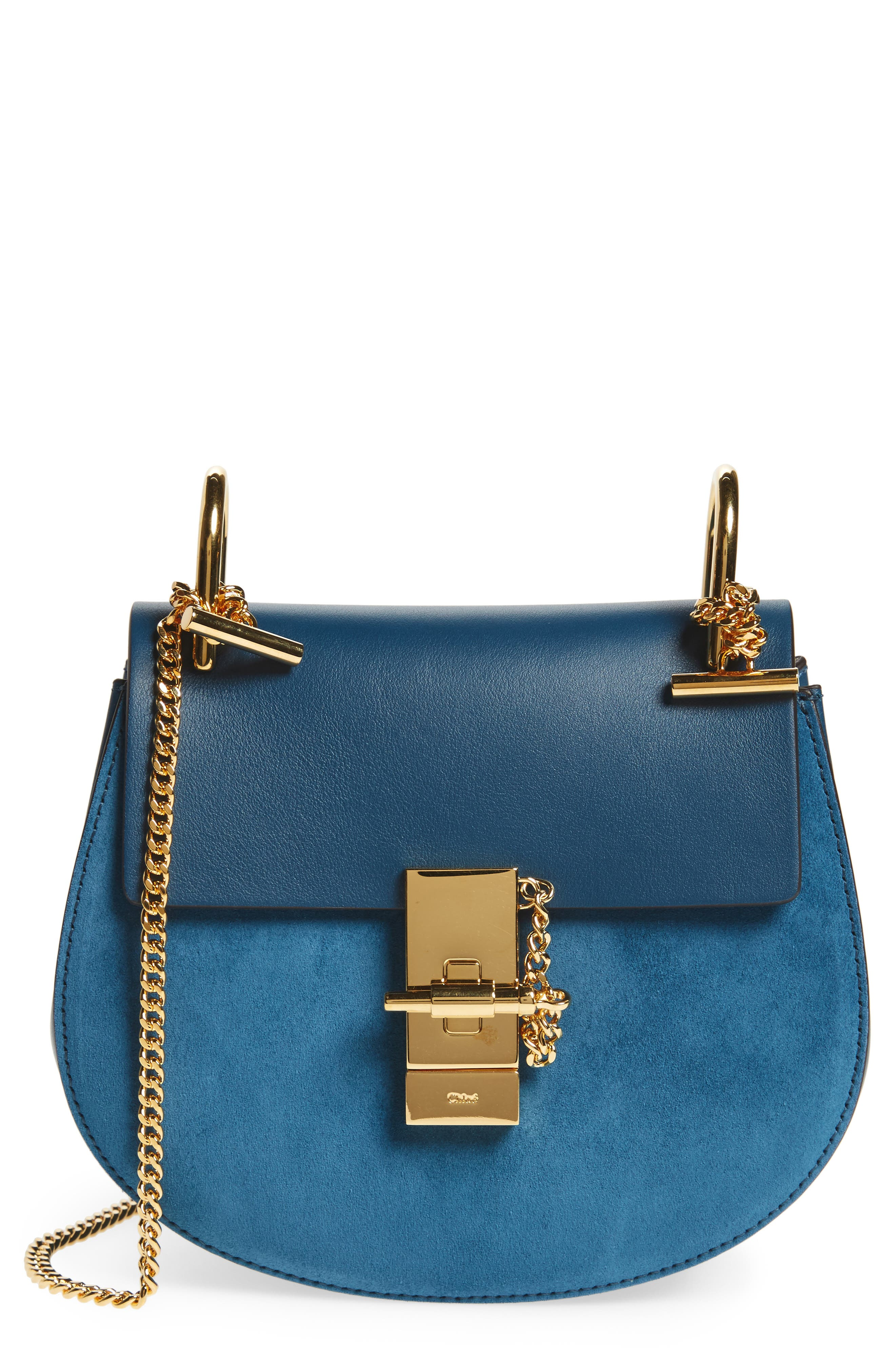 CHLOÉ 'Mini Drew' Leather Crossbody Bag