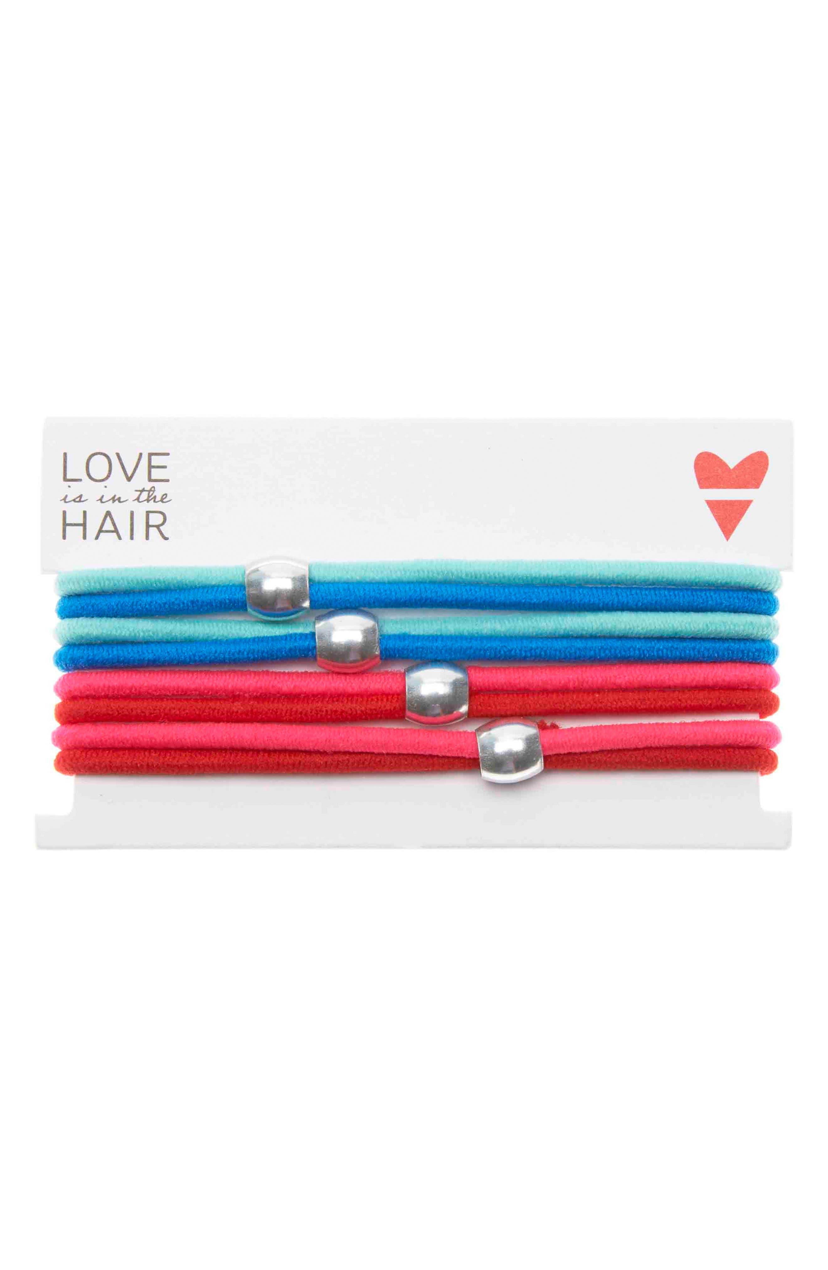 Love Is In The Hair Racer 4-Pack Hair Ties