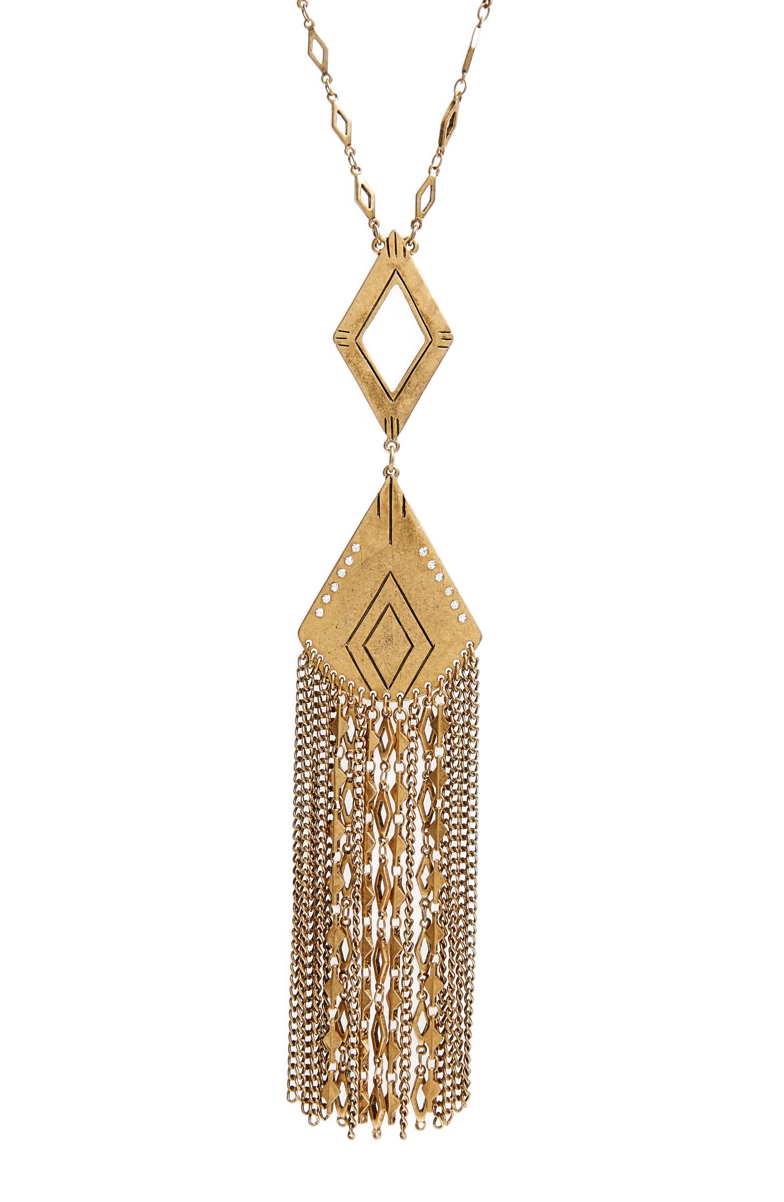 Alternate Image 2  - Treasure & Bond Long Fringe Pendant Necklace