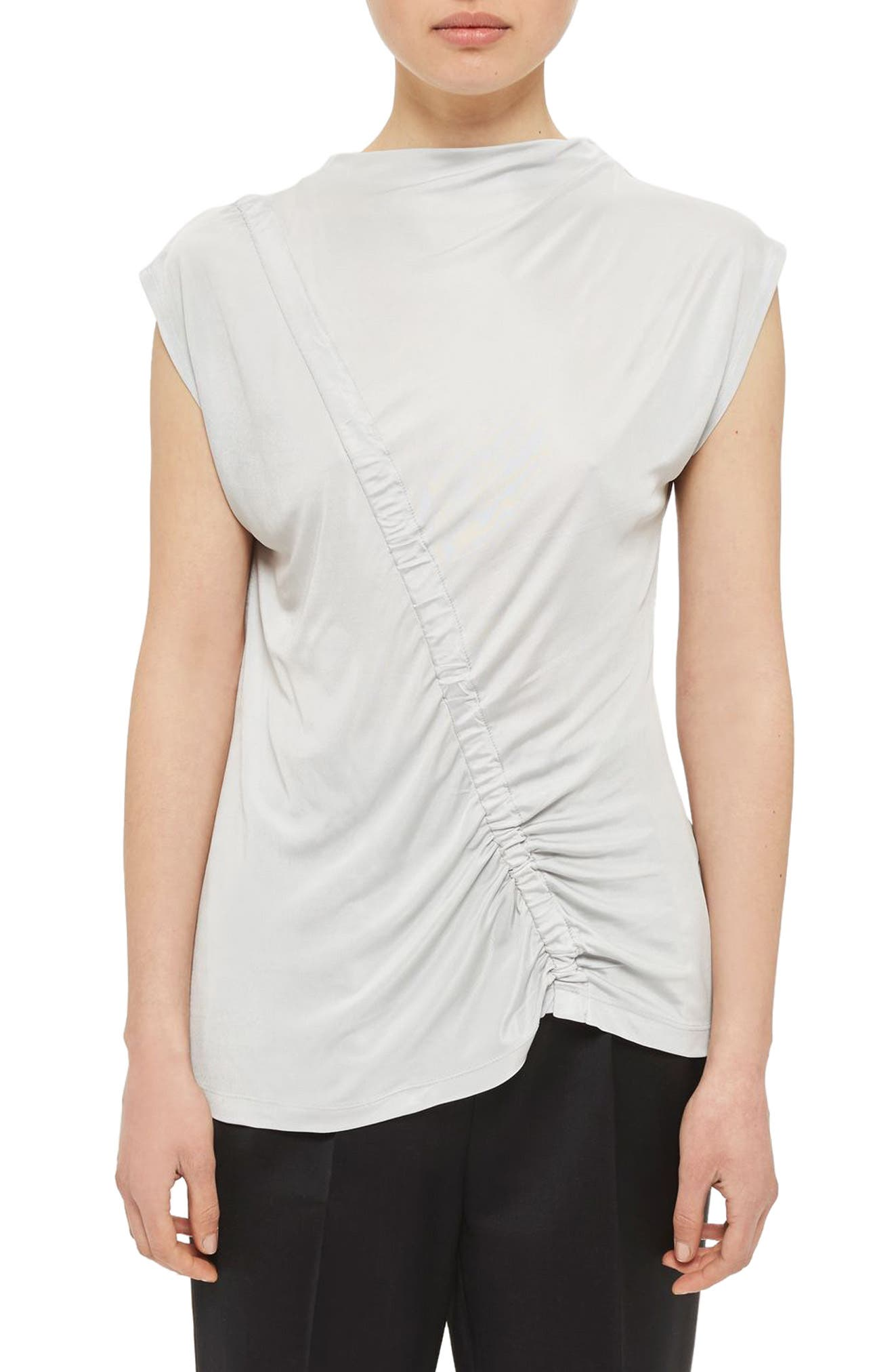 Topshop Boutique Ruched Front Top