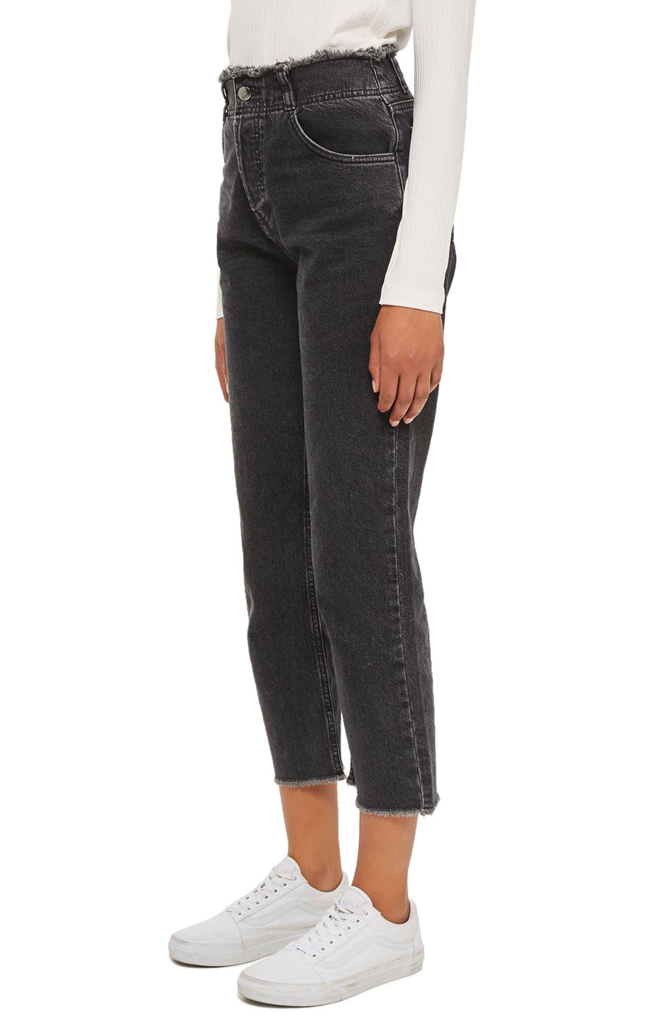 Topshop Boutique Fray Trim Jeans