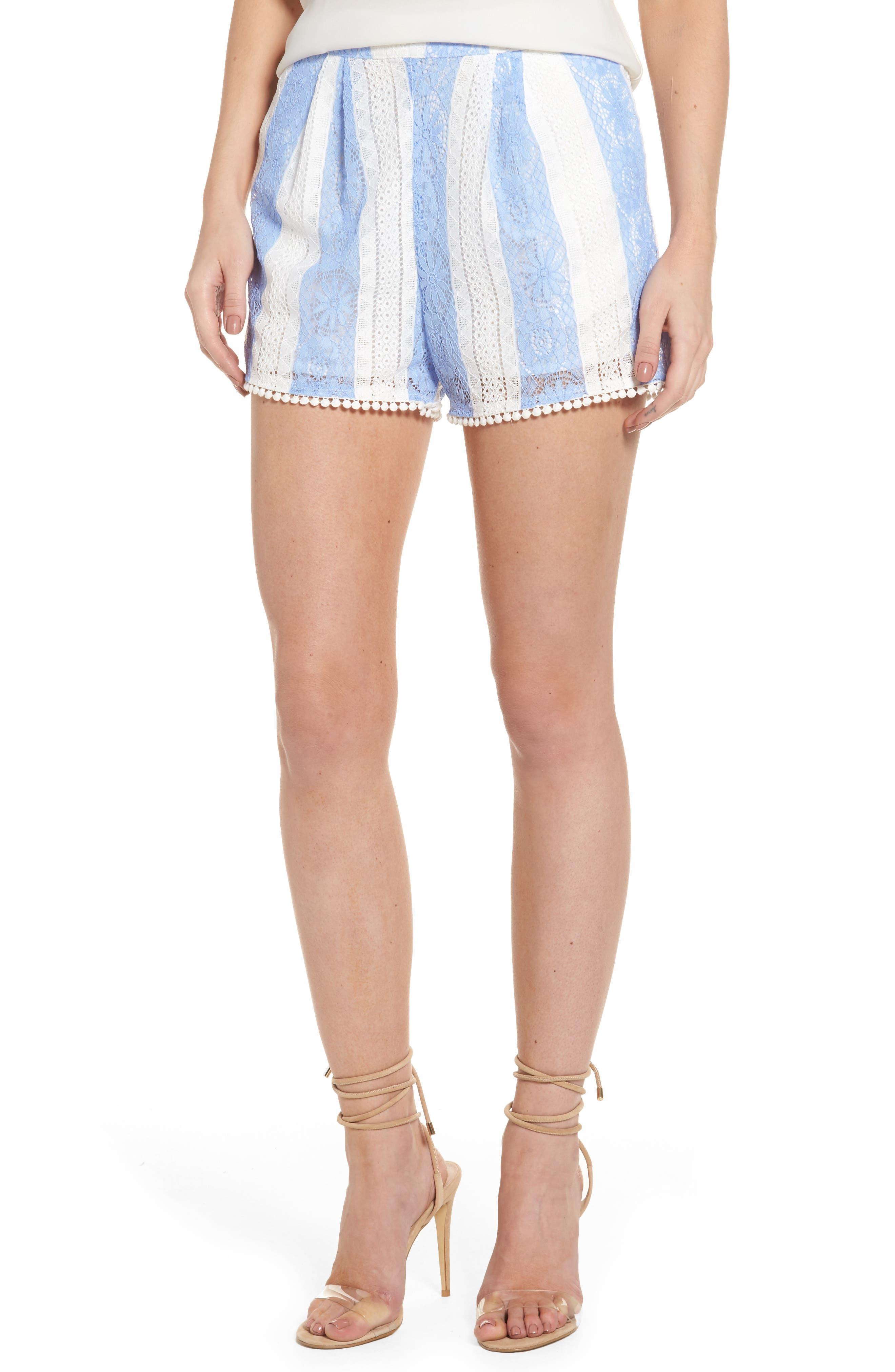 J.O.A. Stripe Lace Shorts