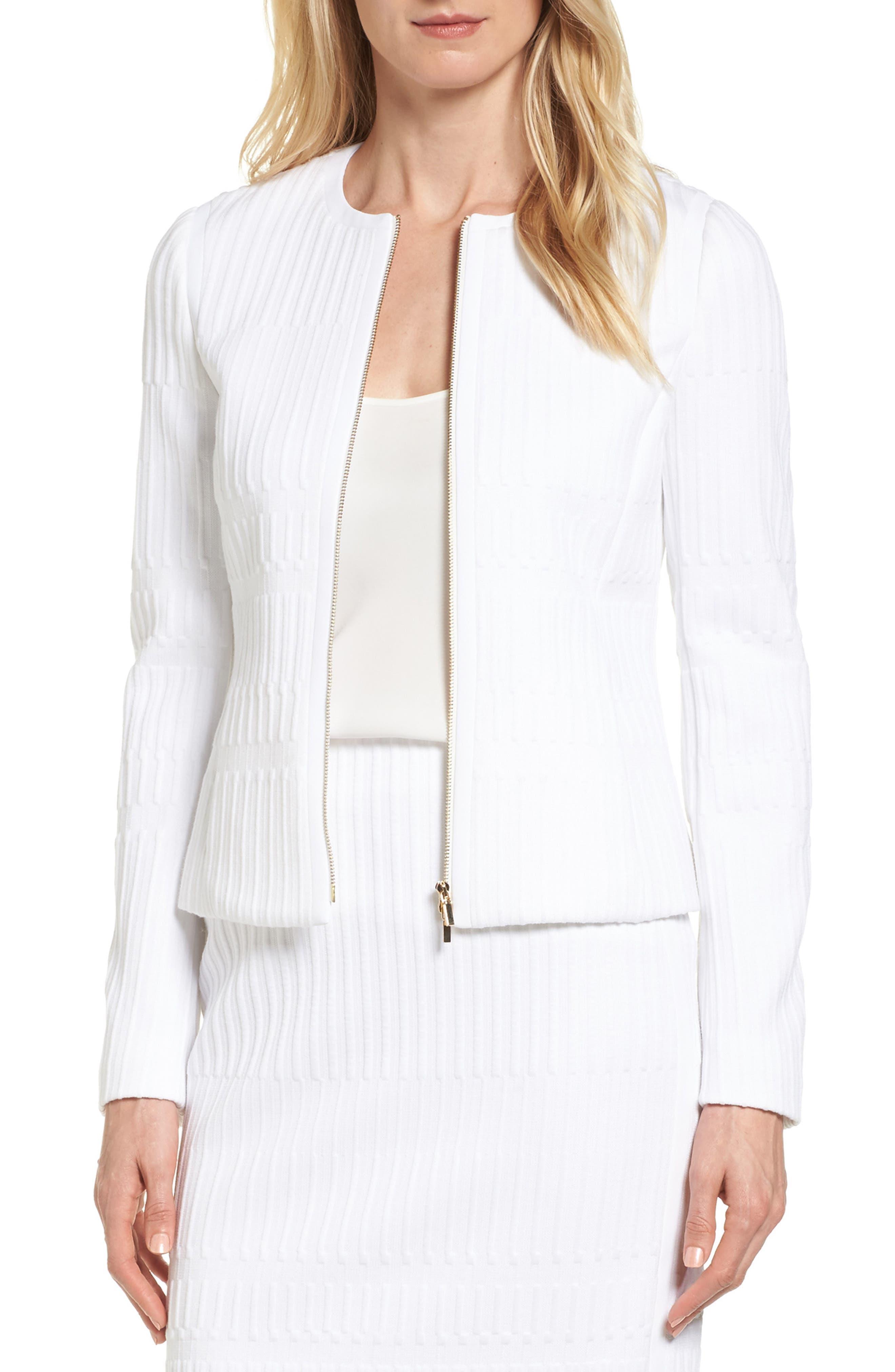 BOSS Kadea Textured Jersey Jacket