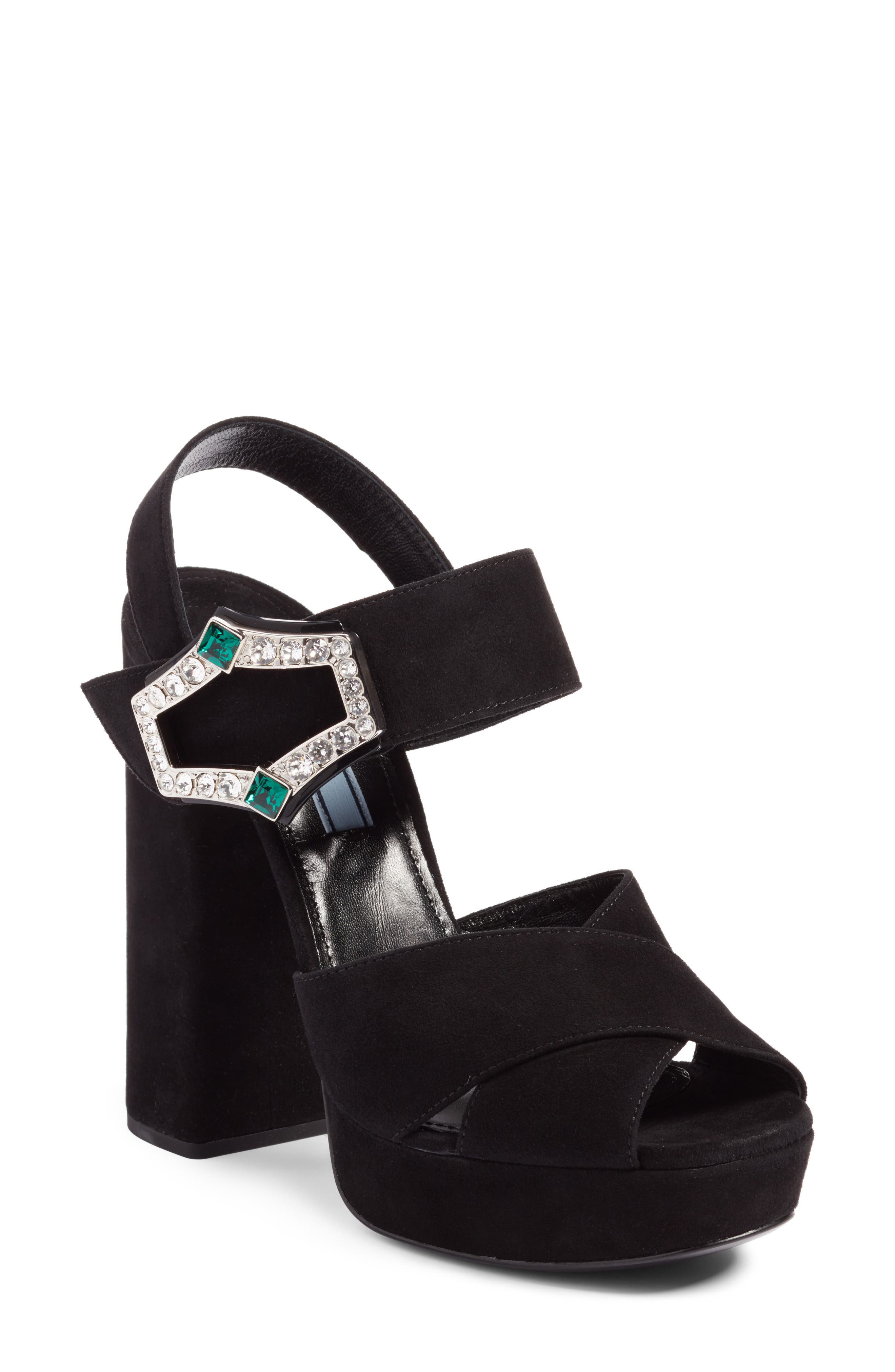 Prada Criss Cross Platform Sandal (Women)