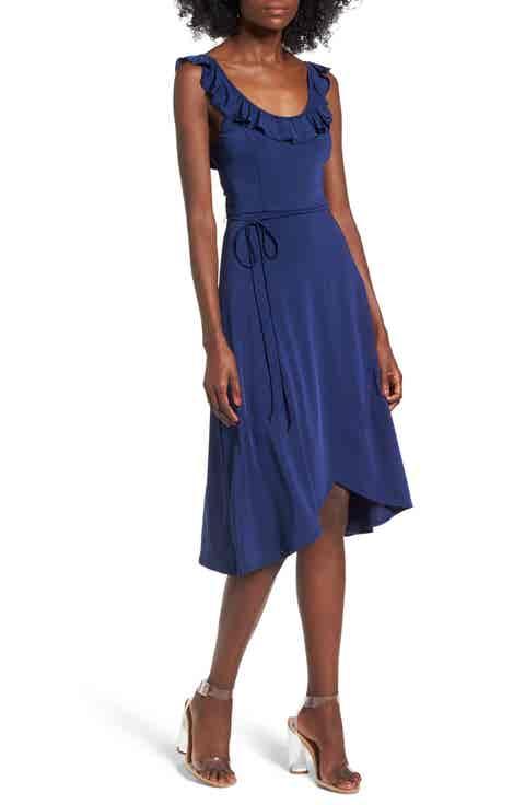 Leith Ruffle Tie Waist Dress
