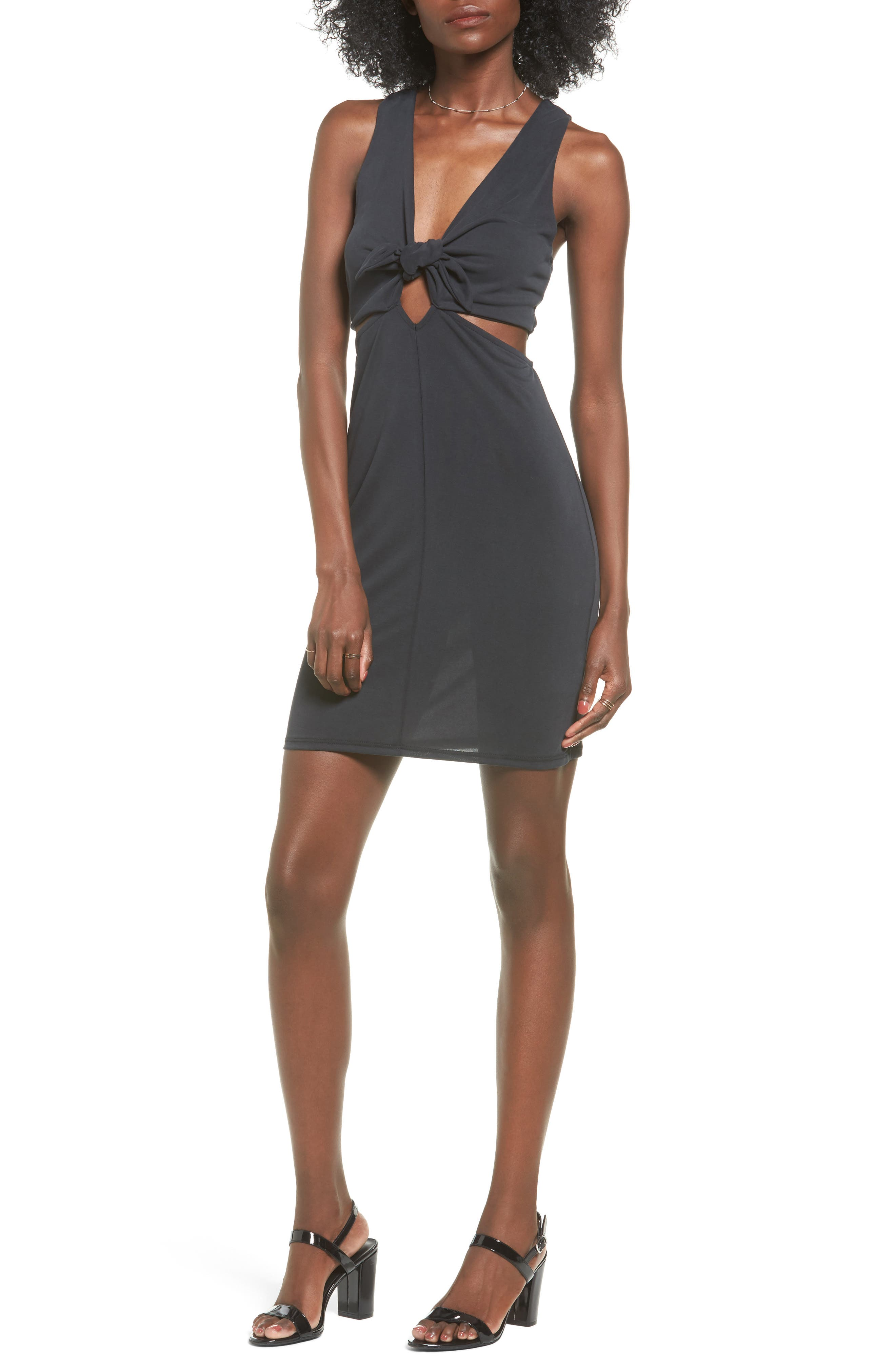 PST by Project Social T Knotted Body-Con Dress