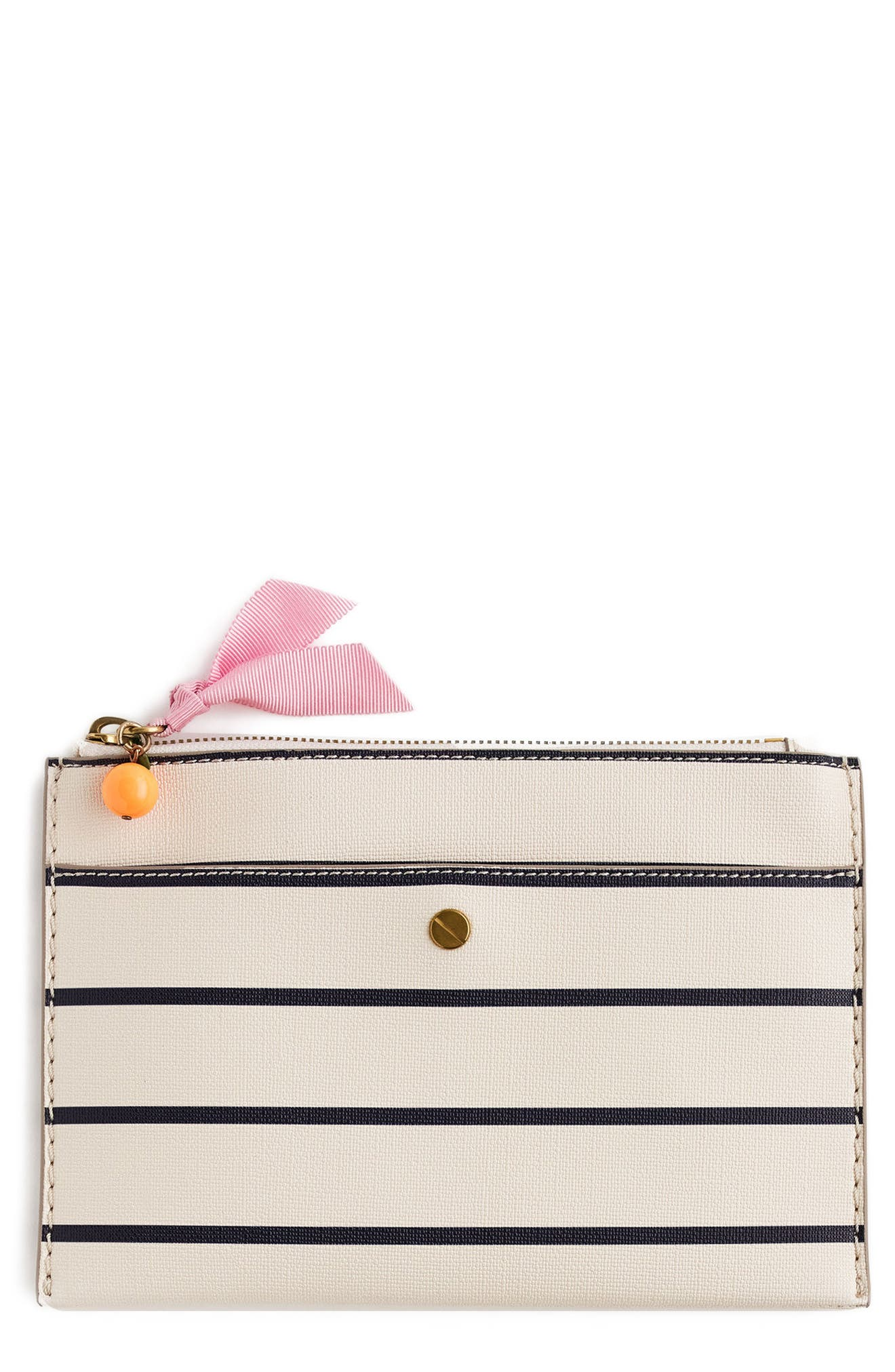 J.Crew Medium Stripe Zip Top Pouch
