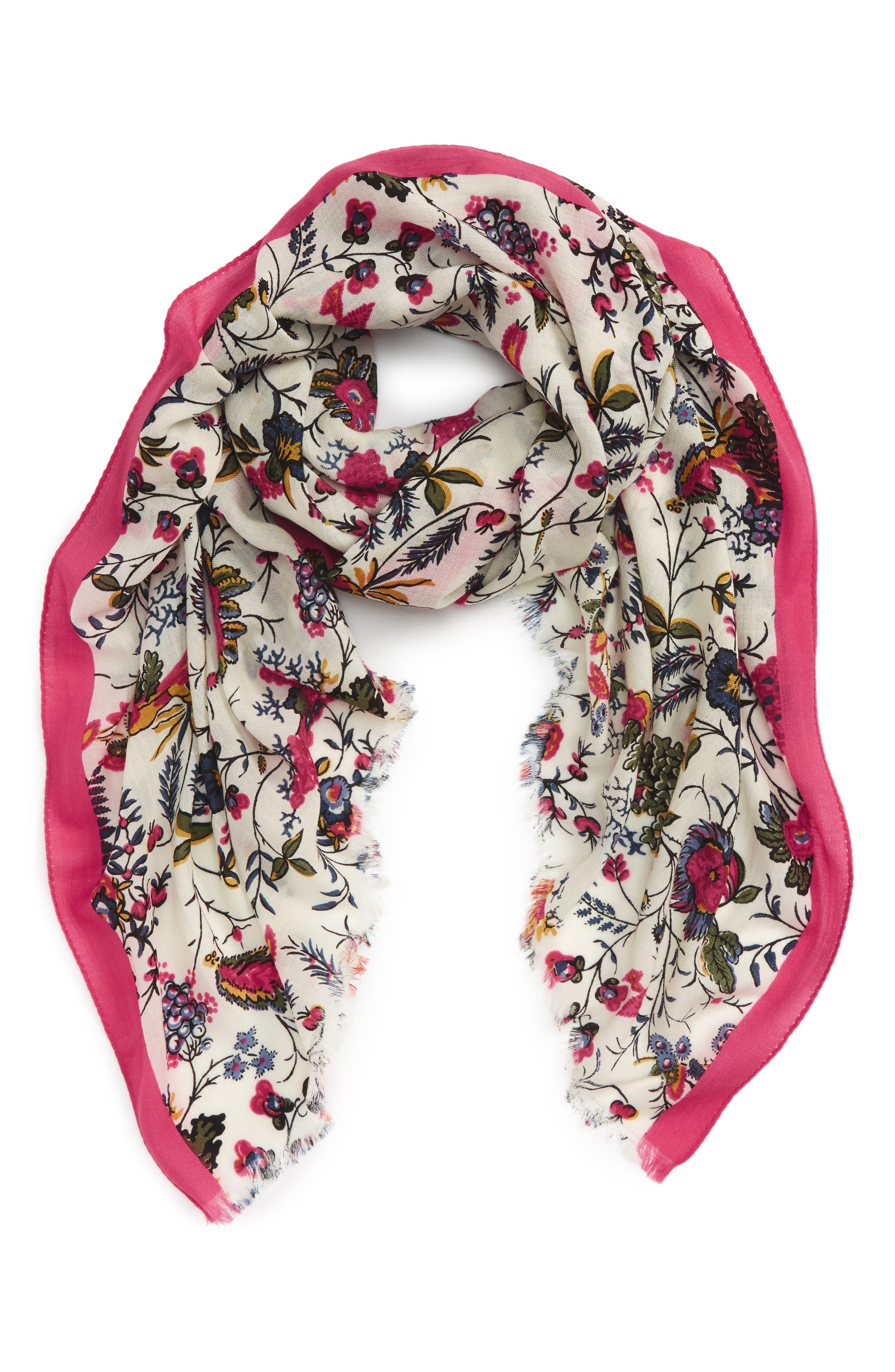 Tory Burch Gabriella Floral Wool Scarf