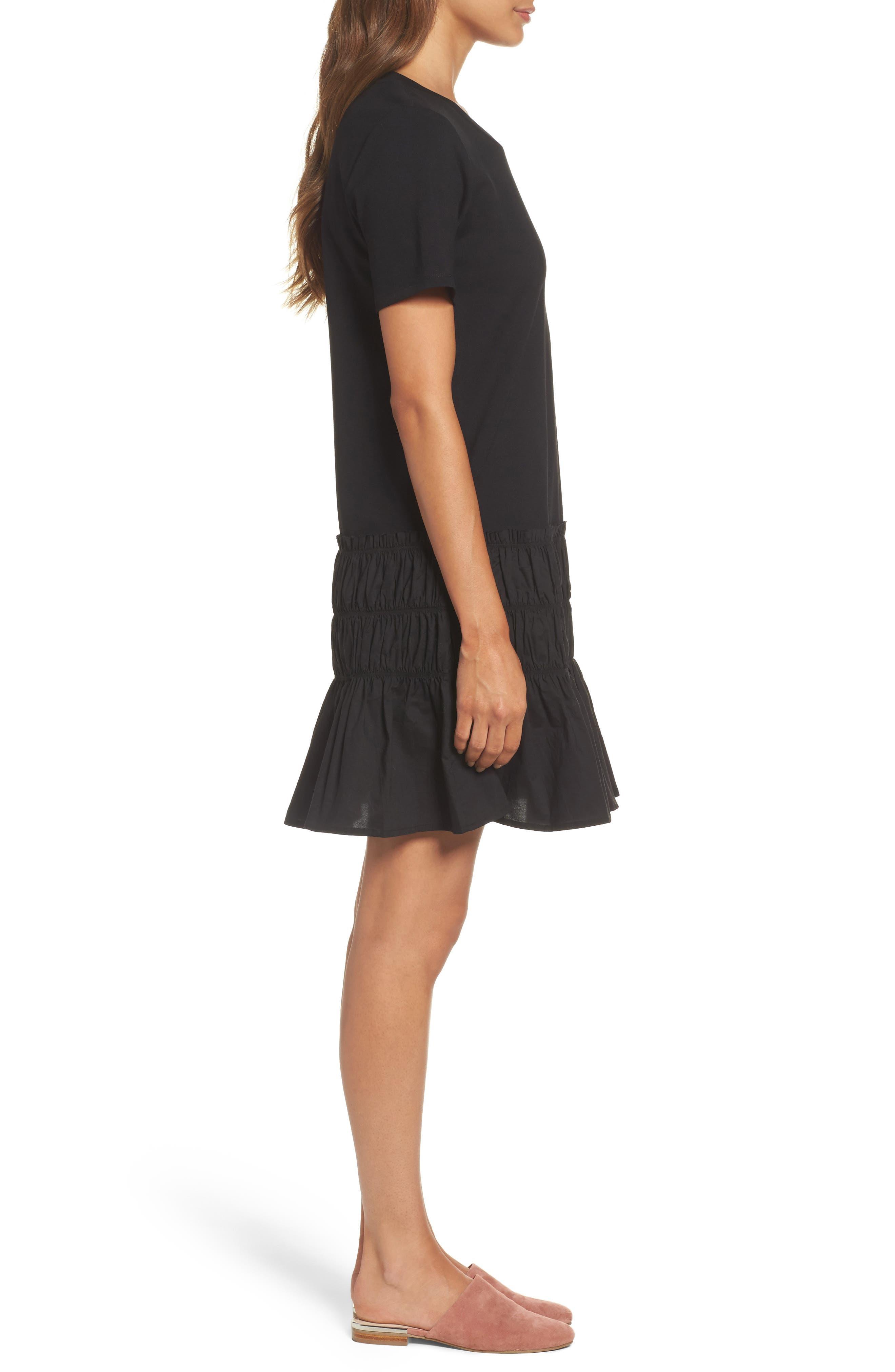 Alternate Image 3  - Chelsea28 Smocked T-Shirt Dress