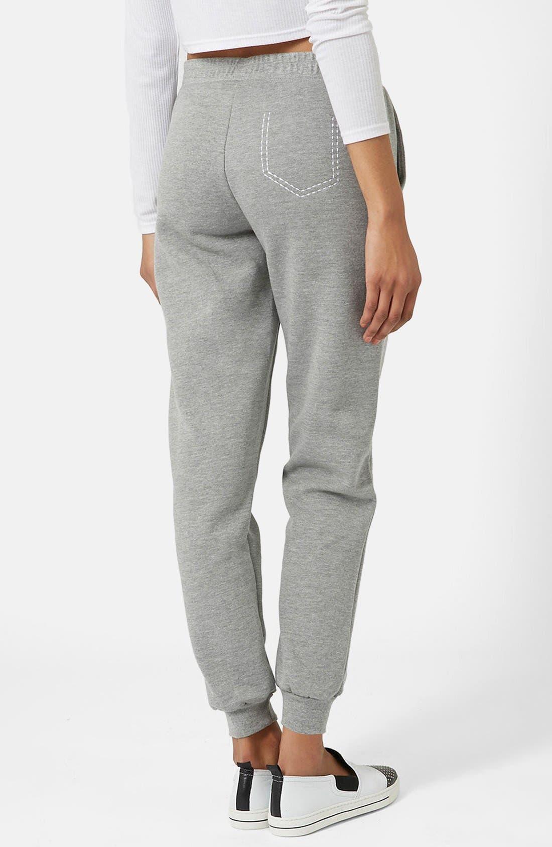 Alternate Image 2  - Topshop Pickstitch Jogger Pants