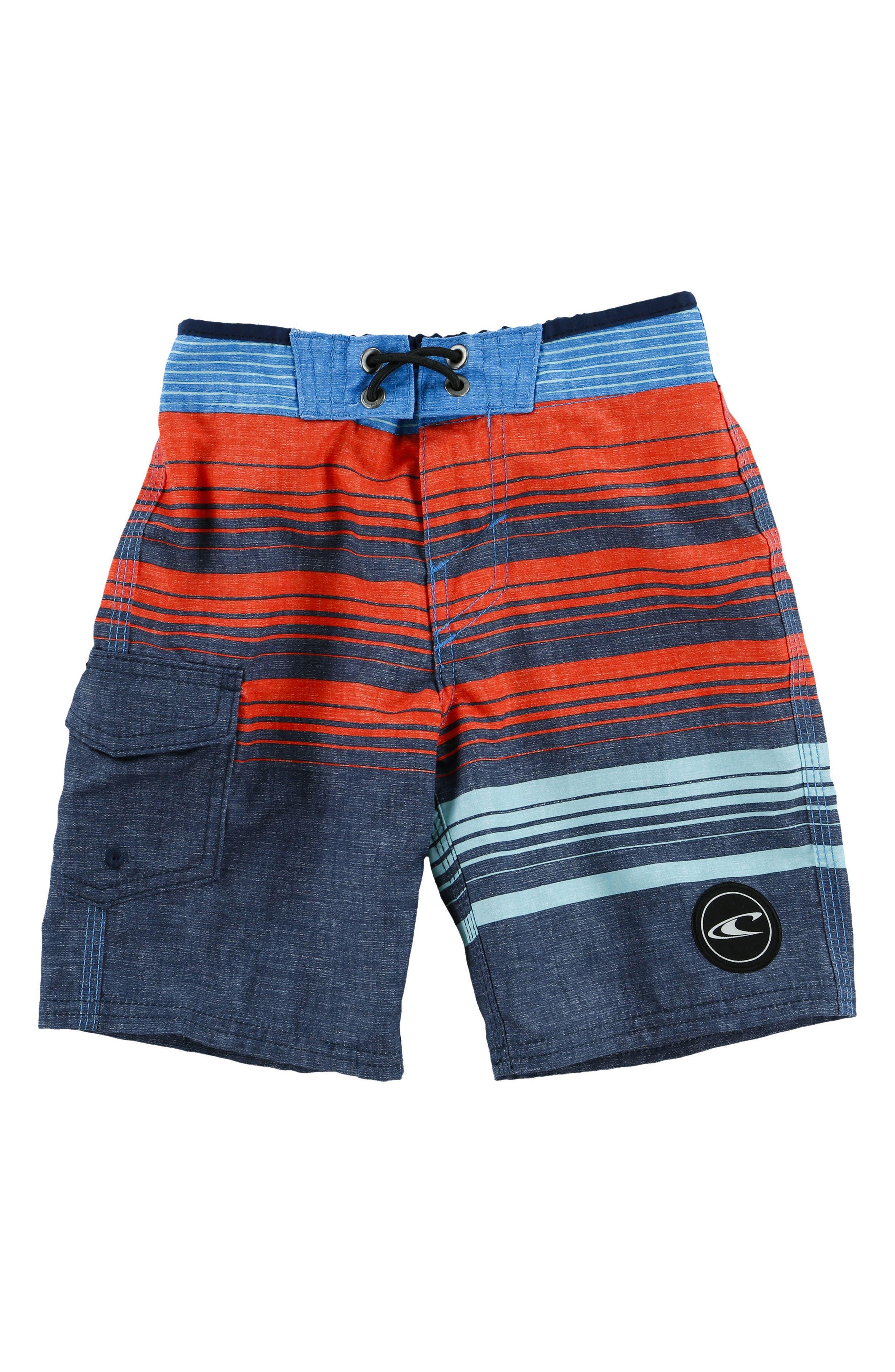 O'Neill Lennox Stripe Board Shorts (Little Boys)