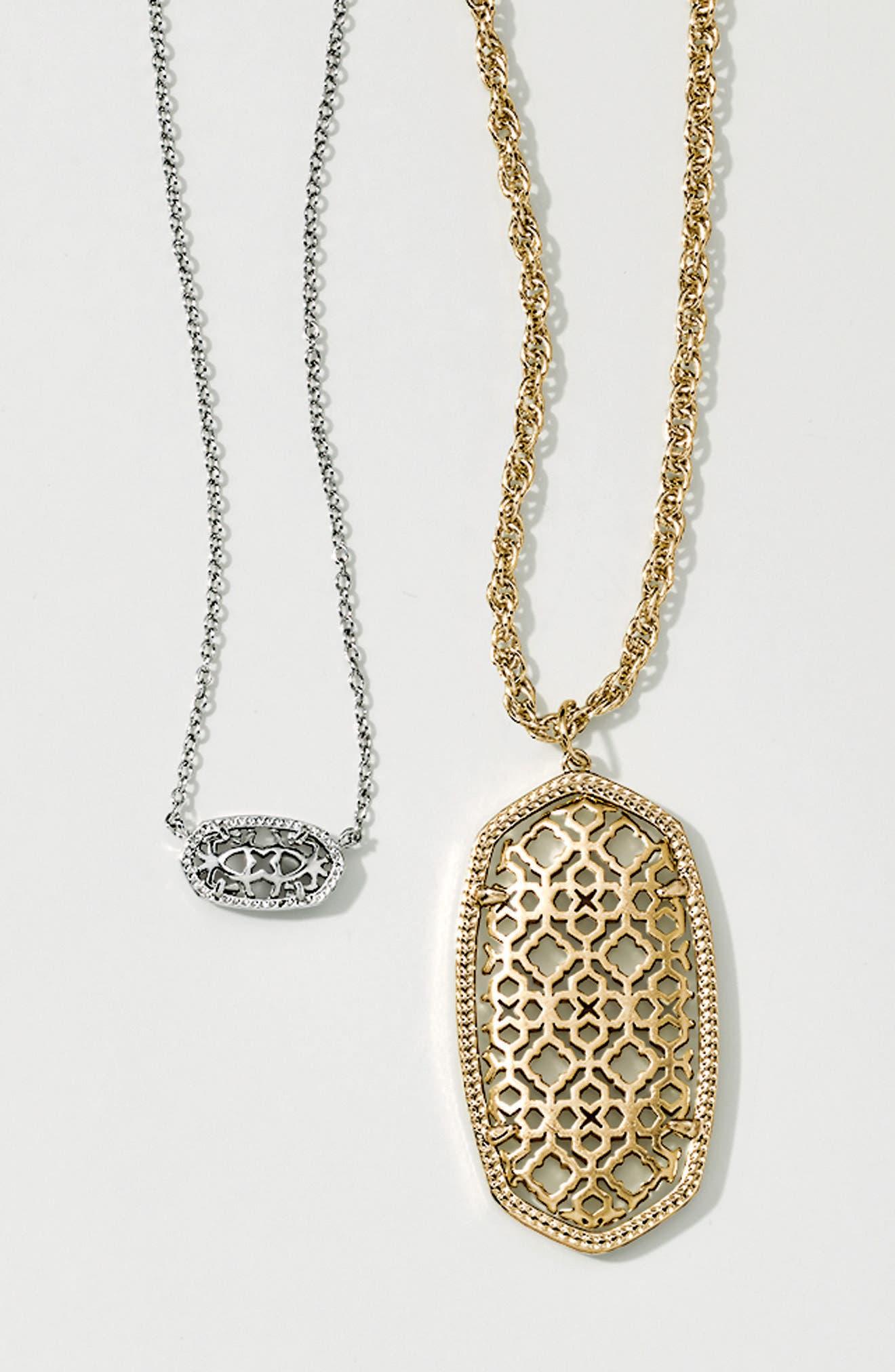 Alternate Image 4  - Kendra Scott Rae Long Filigree Pendant Necklace