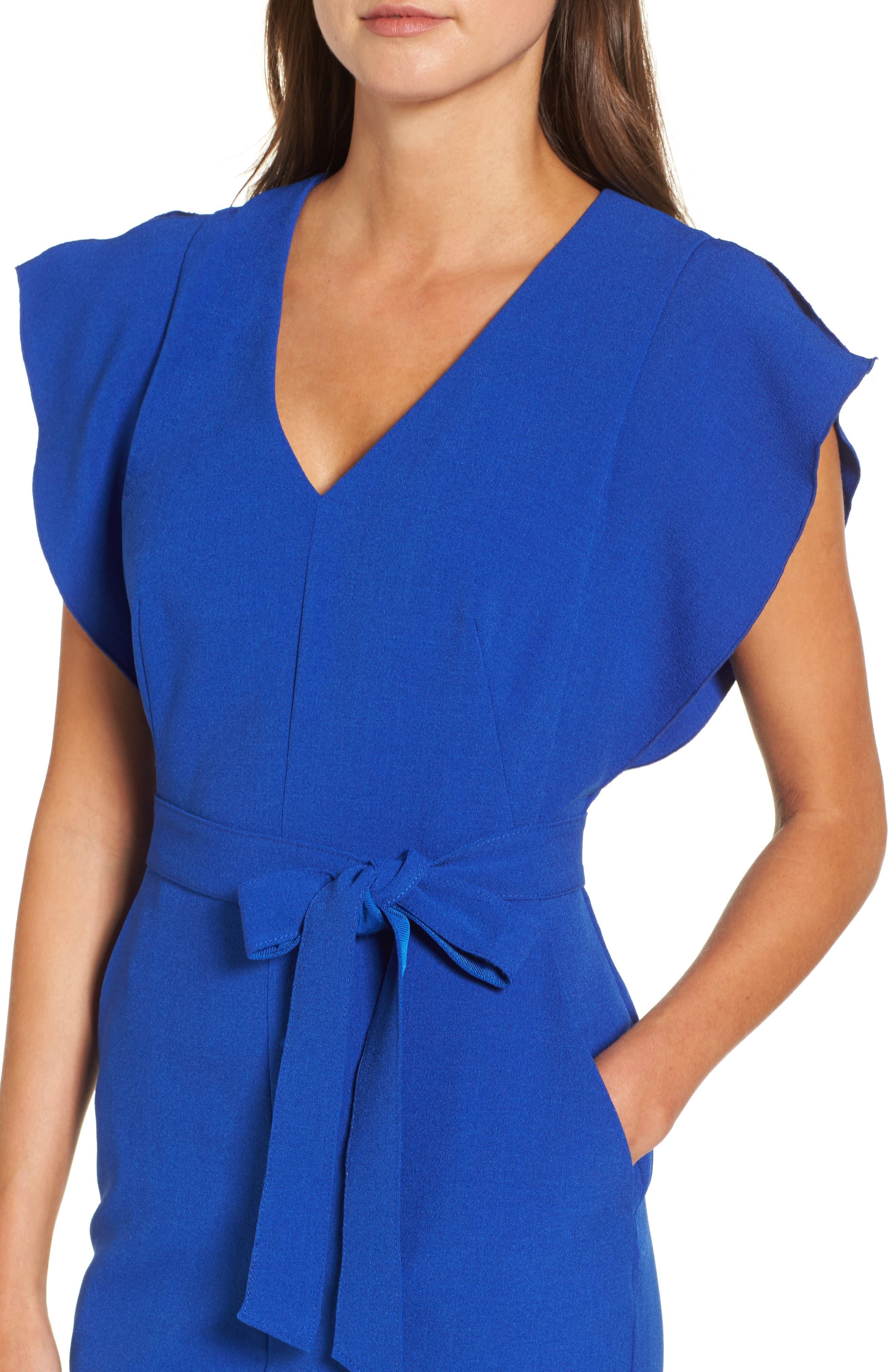 Alternate Image 5  - Eliza J Ruffle Sleeve Sheath Dress