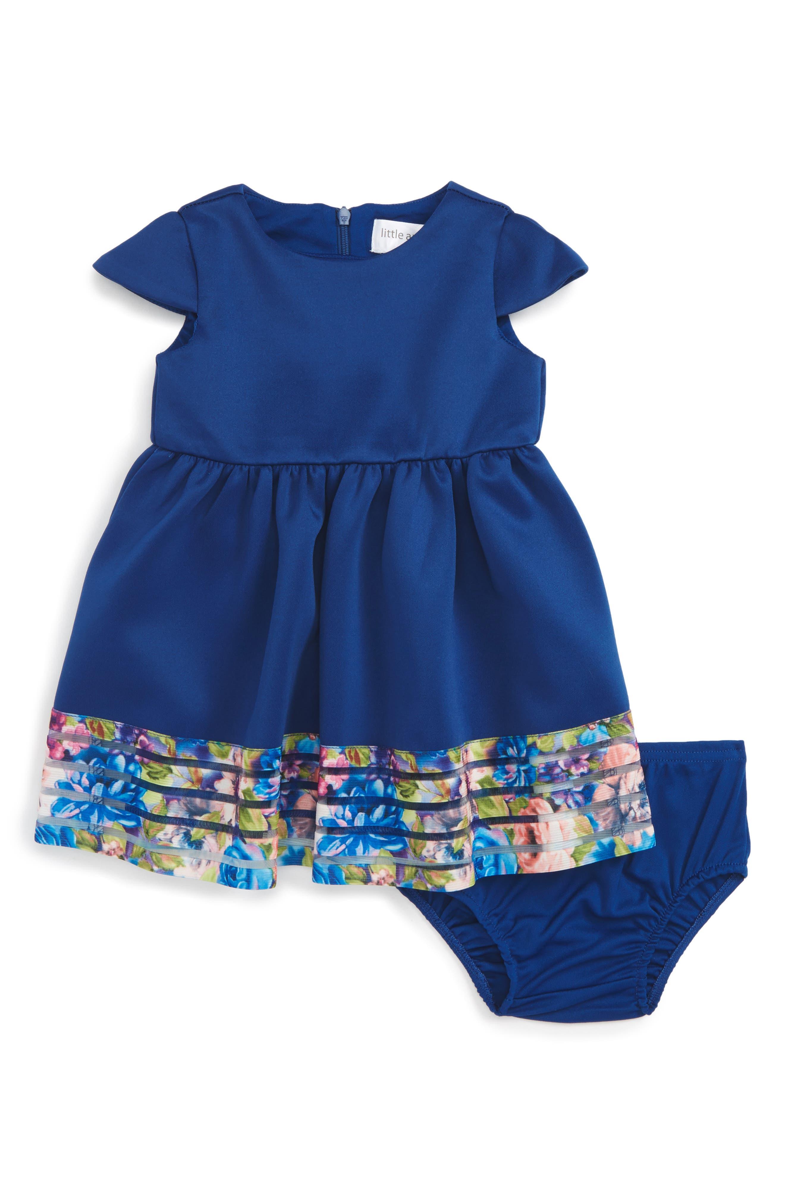 Us Angels Cap Sleeve Scuba Dress (Baby Girls)