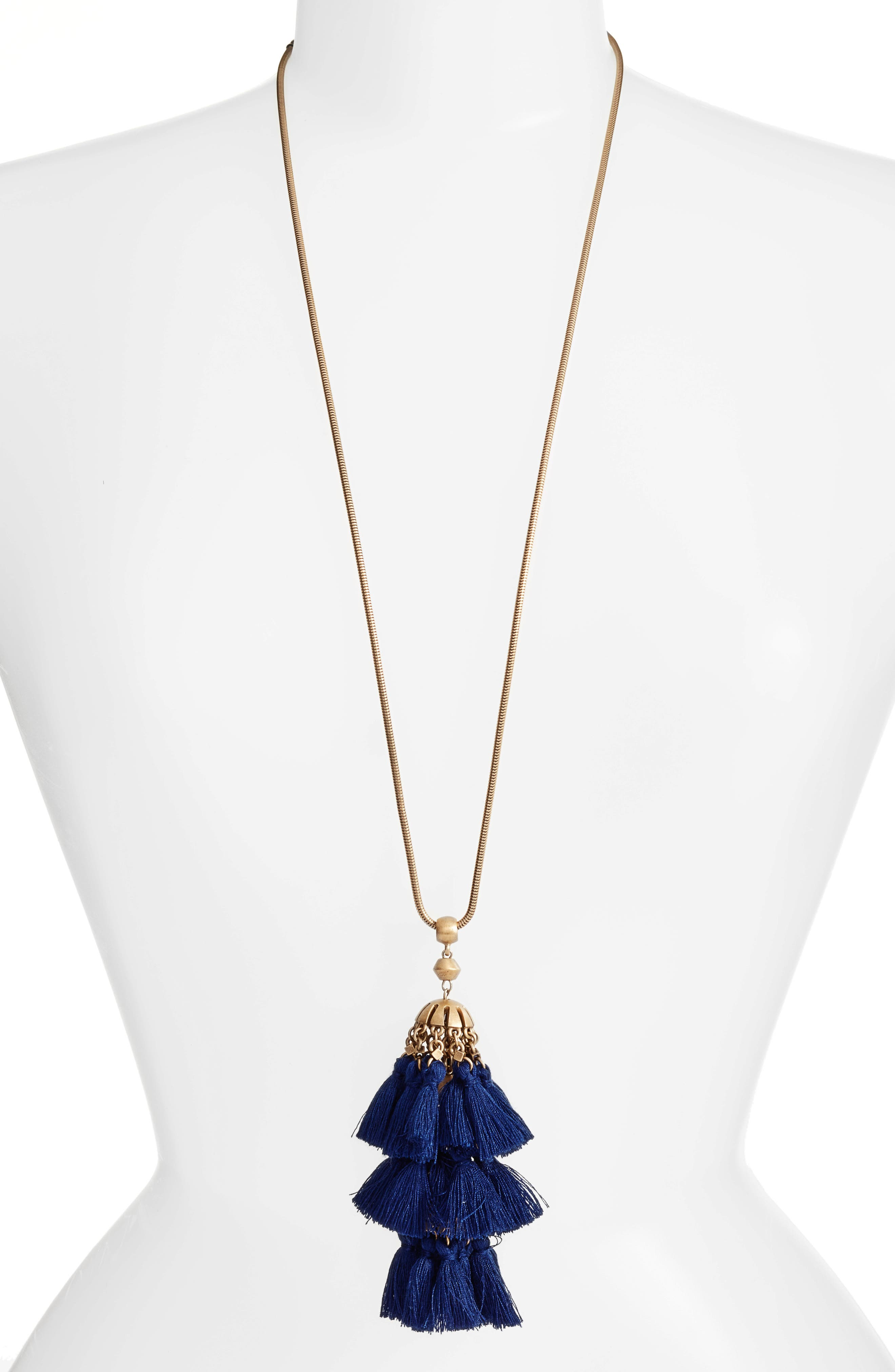 Loren Hope Audrey Tassel Pendant Necklace