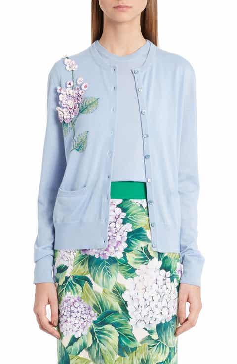 Dolce Gabbana Embellished Cashmere   Silk Button Cardigan