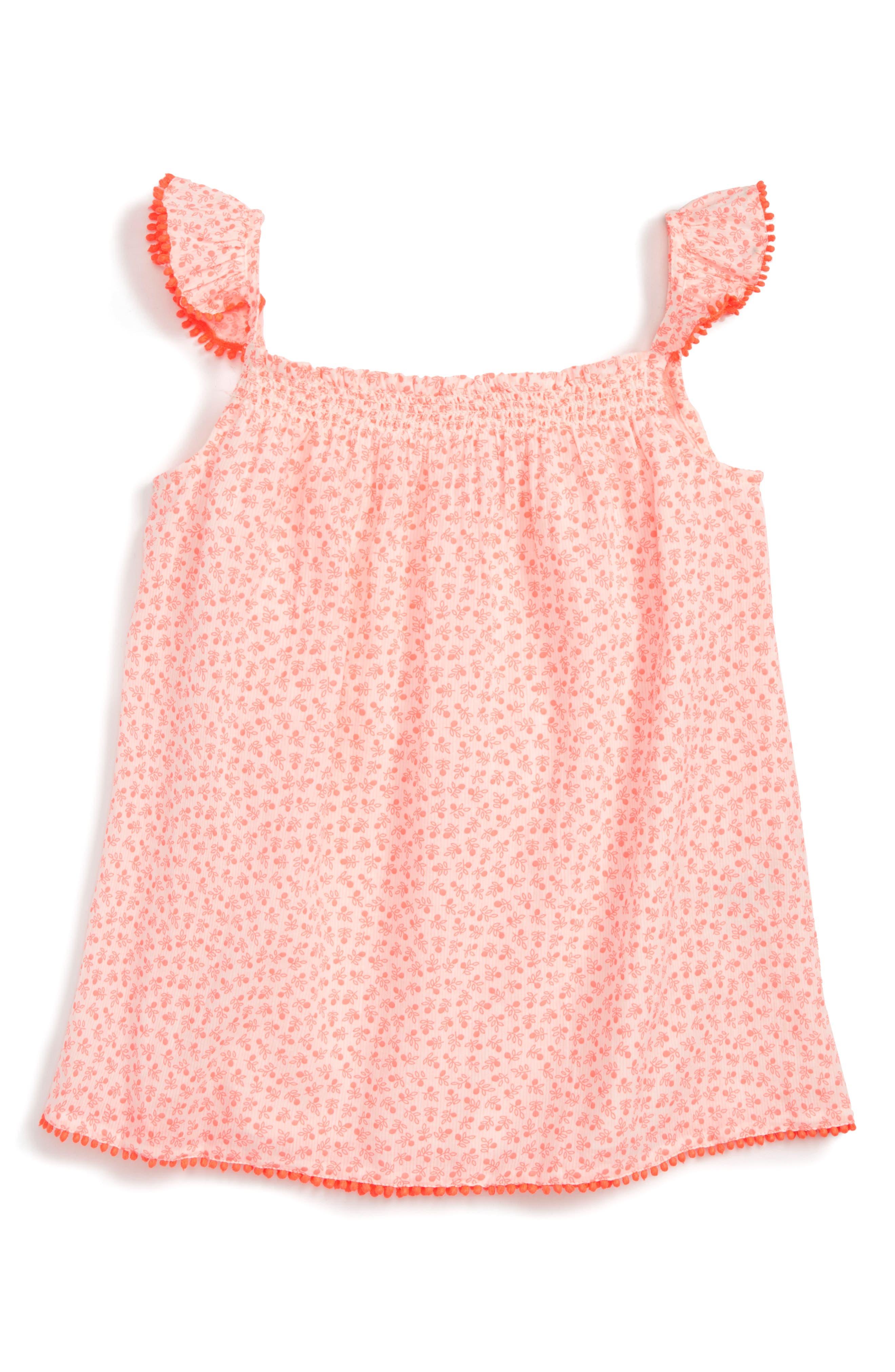 Mini Boden Smocked Top (Toddler Girls, Little Girls & Big Girls)