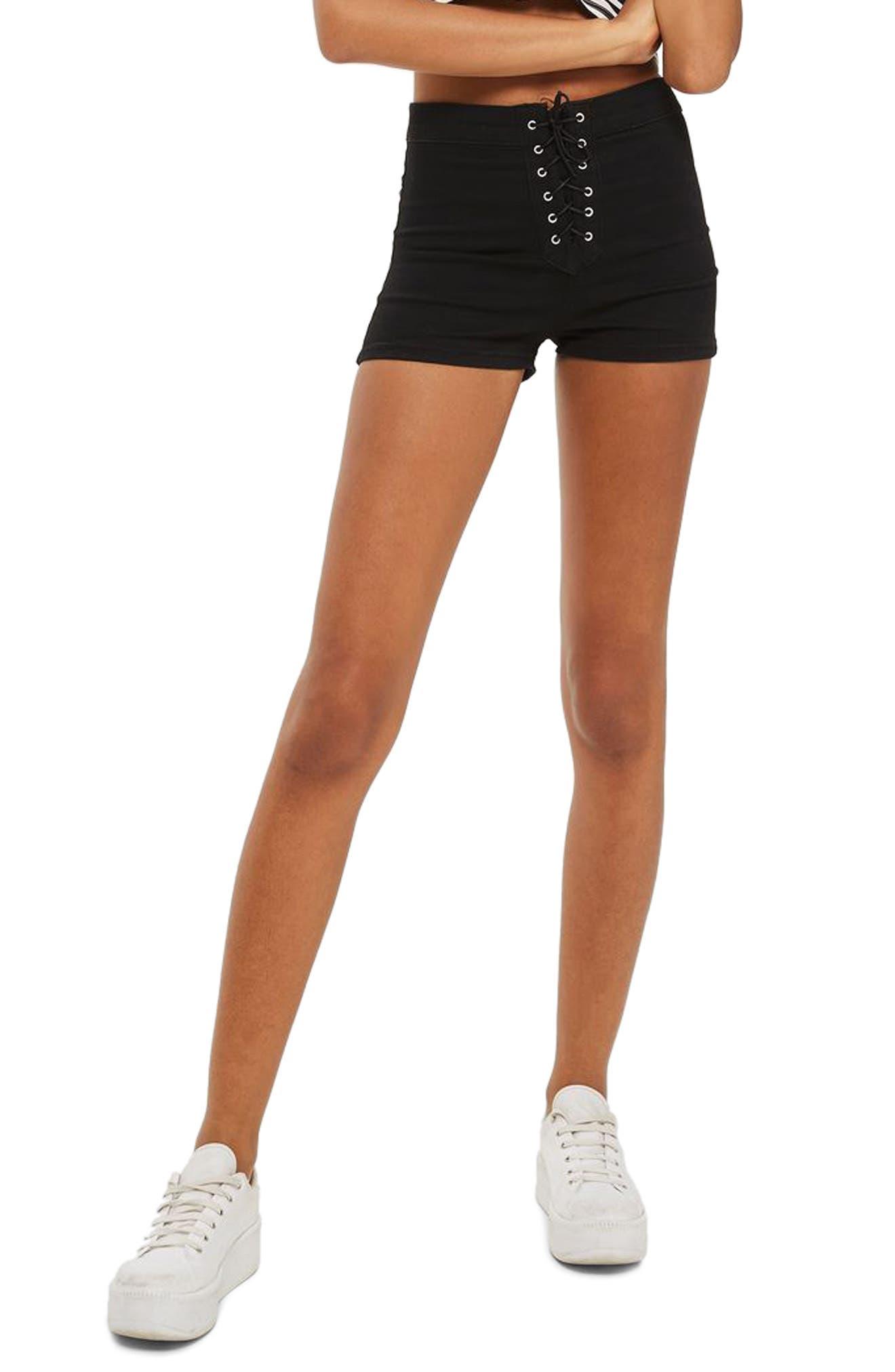 Topshop Joni Lace-Up Shorts