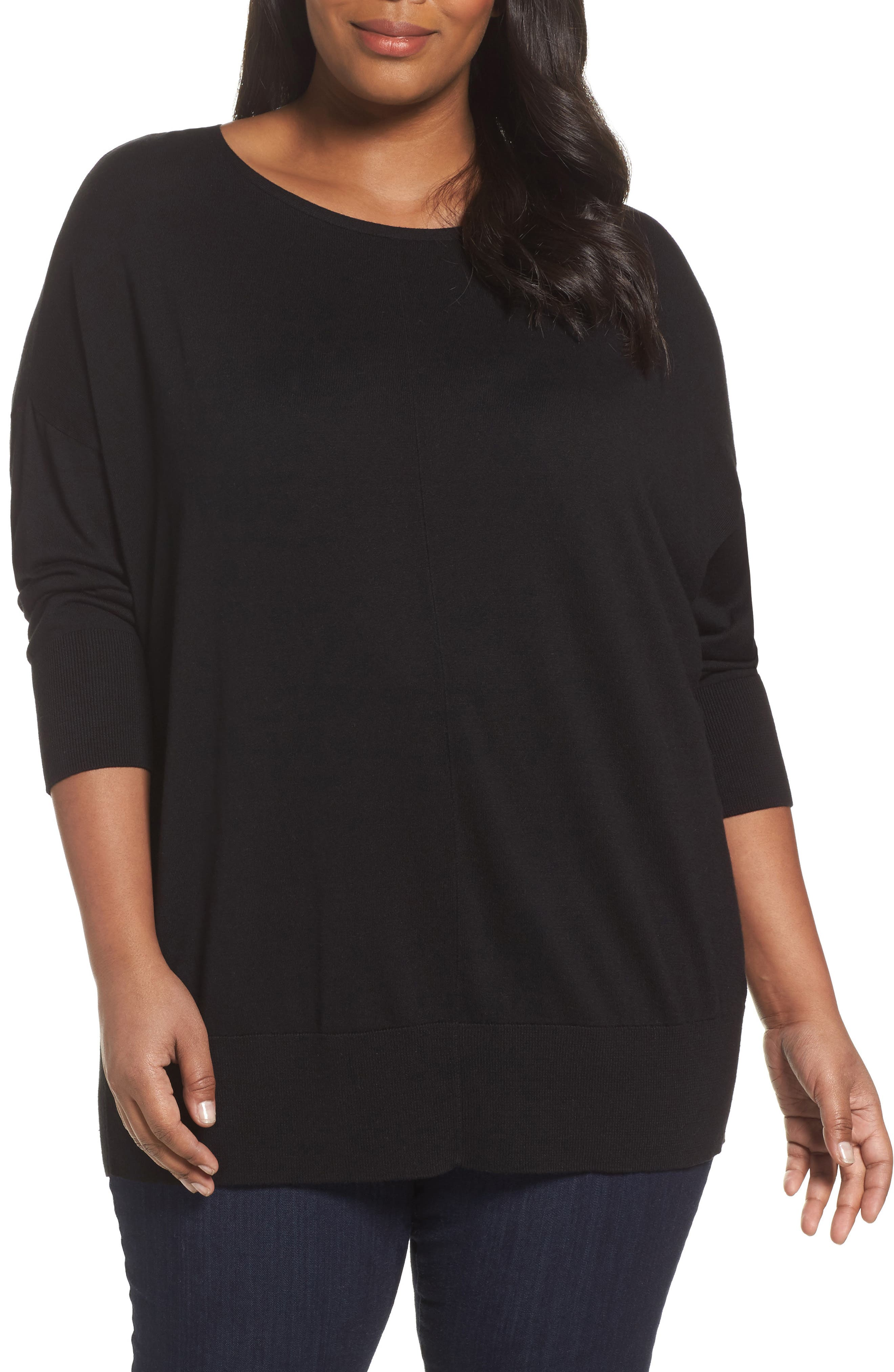 Sejour Dolman Sleeve Sweater (Plus Size)