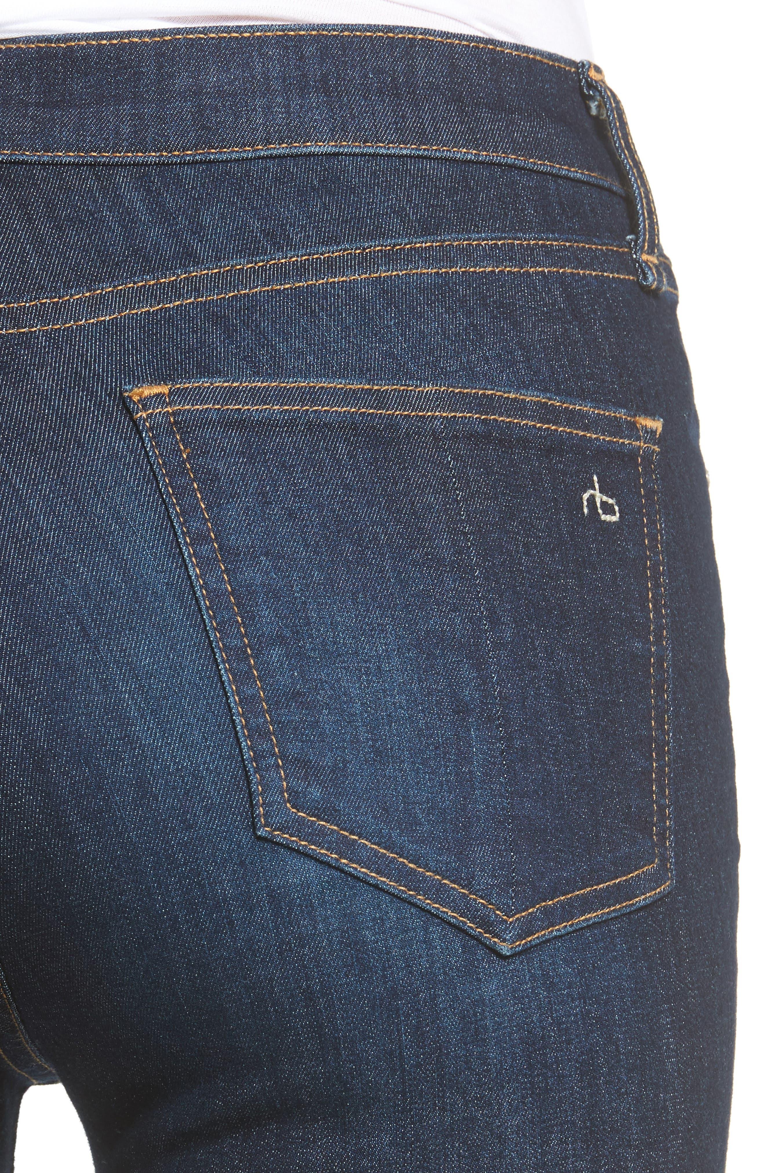 Alternate Image 5  - rag & bone/JEAN High Waist Skinny Ankle Jeans (Mad River)
