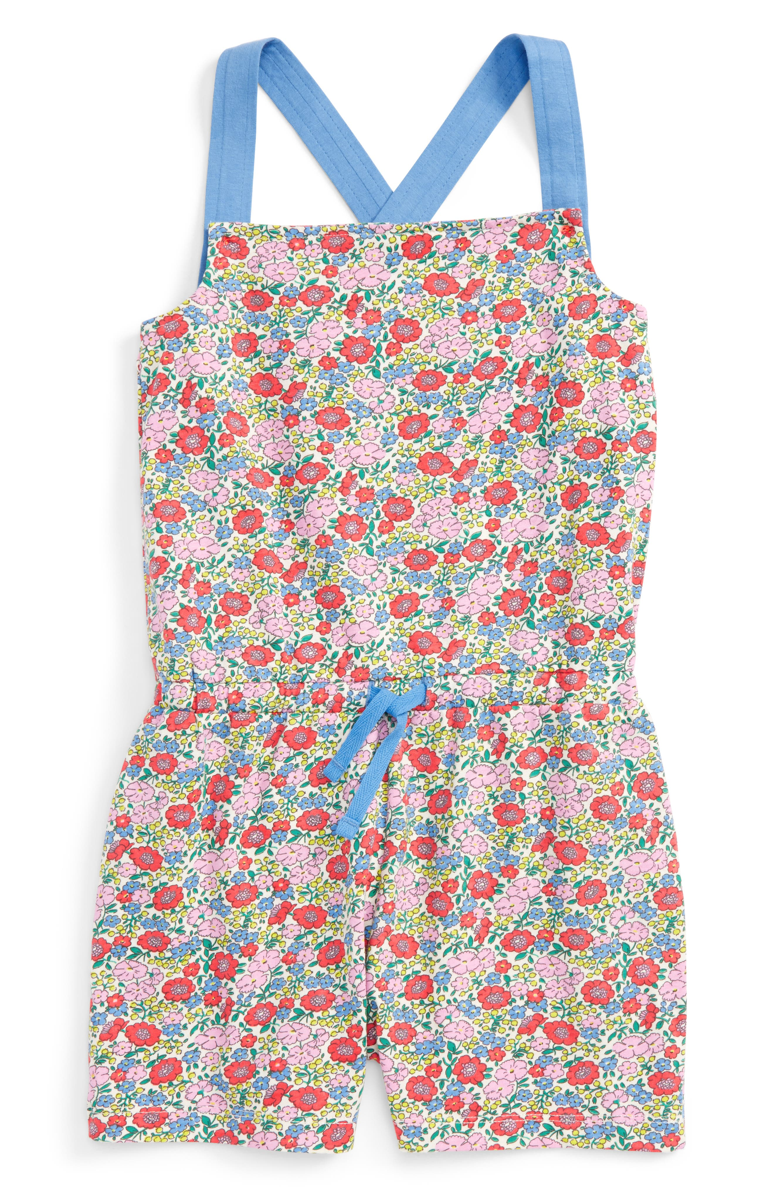Mini Boden Print Romper (Toddler Girls, Little Girls & Big Girls)
