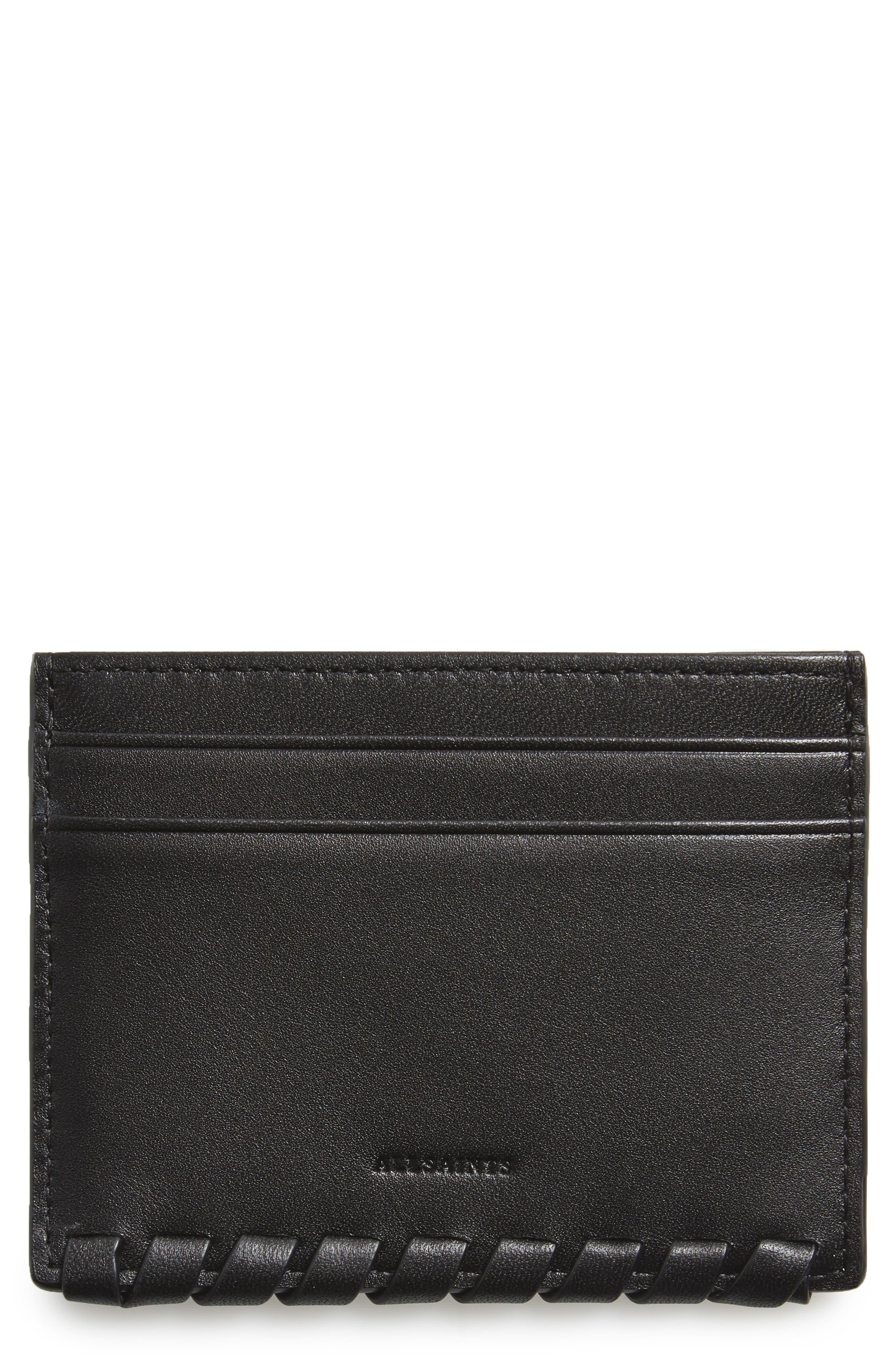 ALLSAINTS Kita Pebbled Leather Card Case