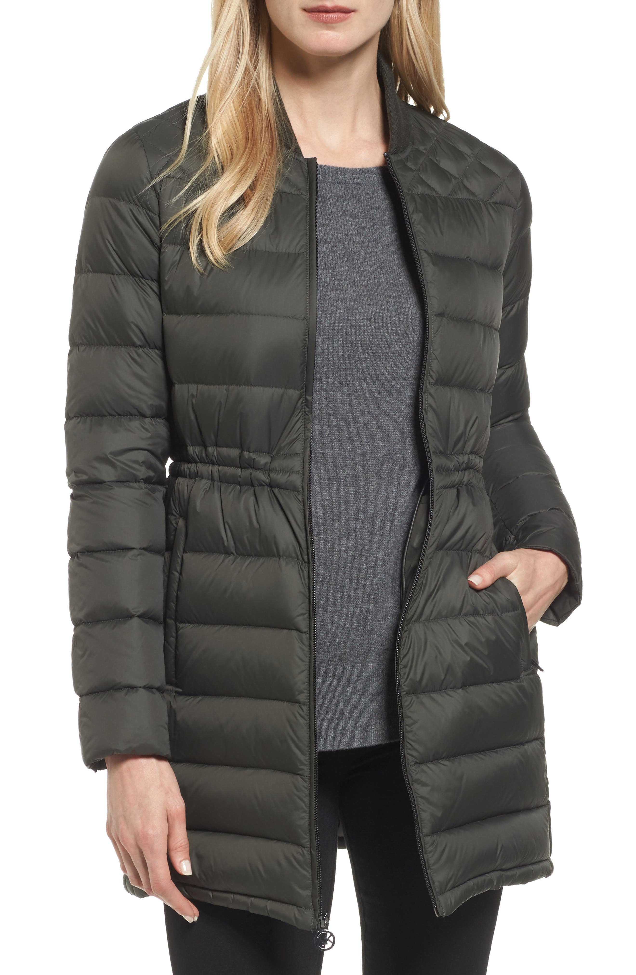 MICHAEL Michael Kors Packable Knit Trim Anorak (Regular & Petite)