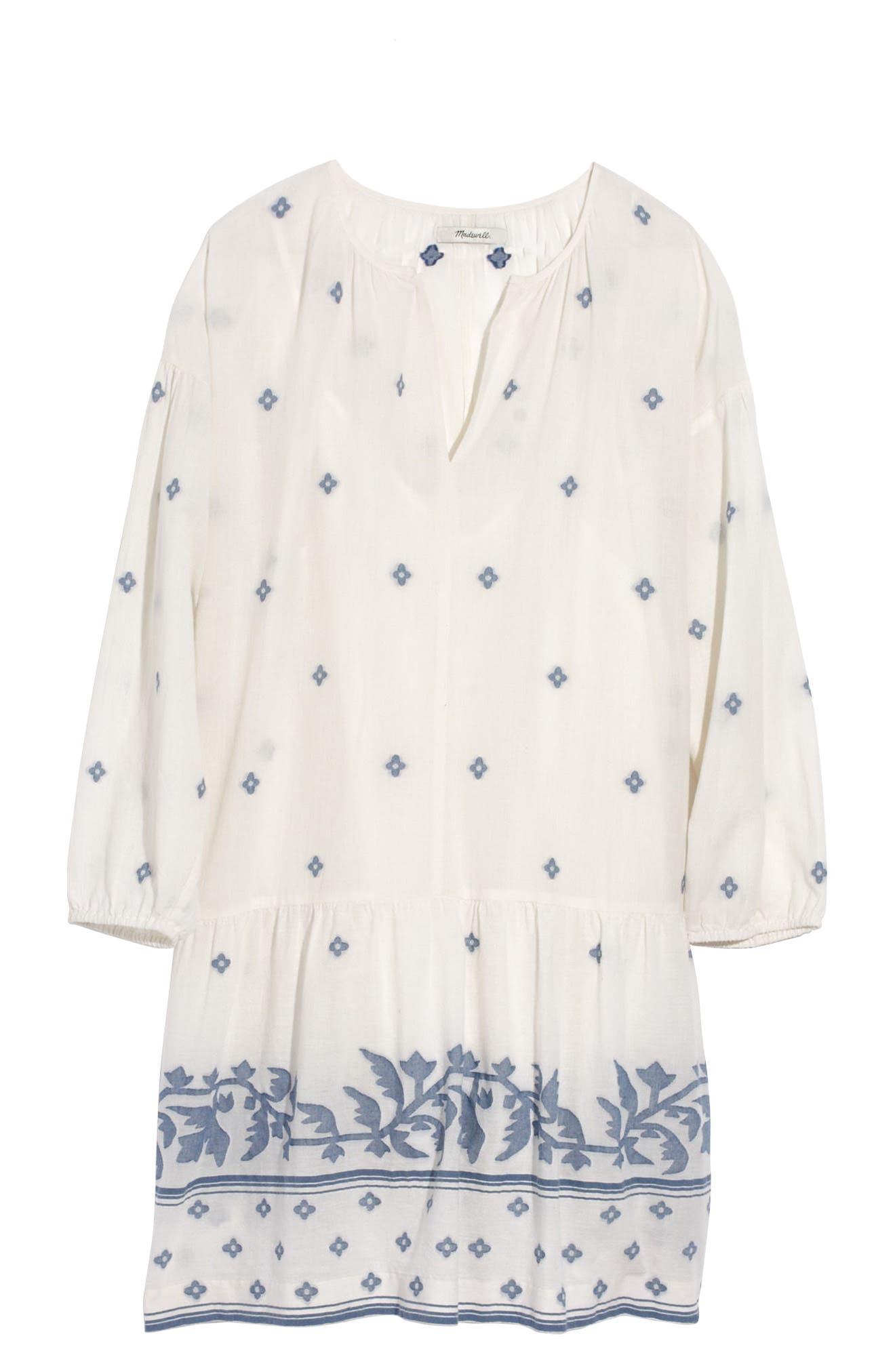 Madewell Primrose Jacquard Tunic Dress