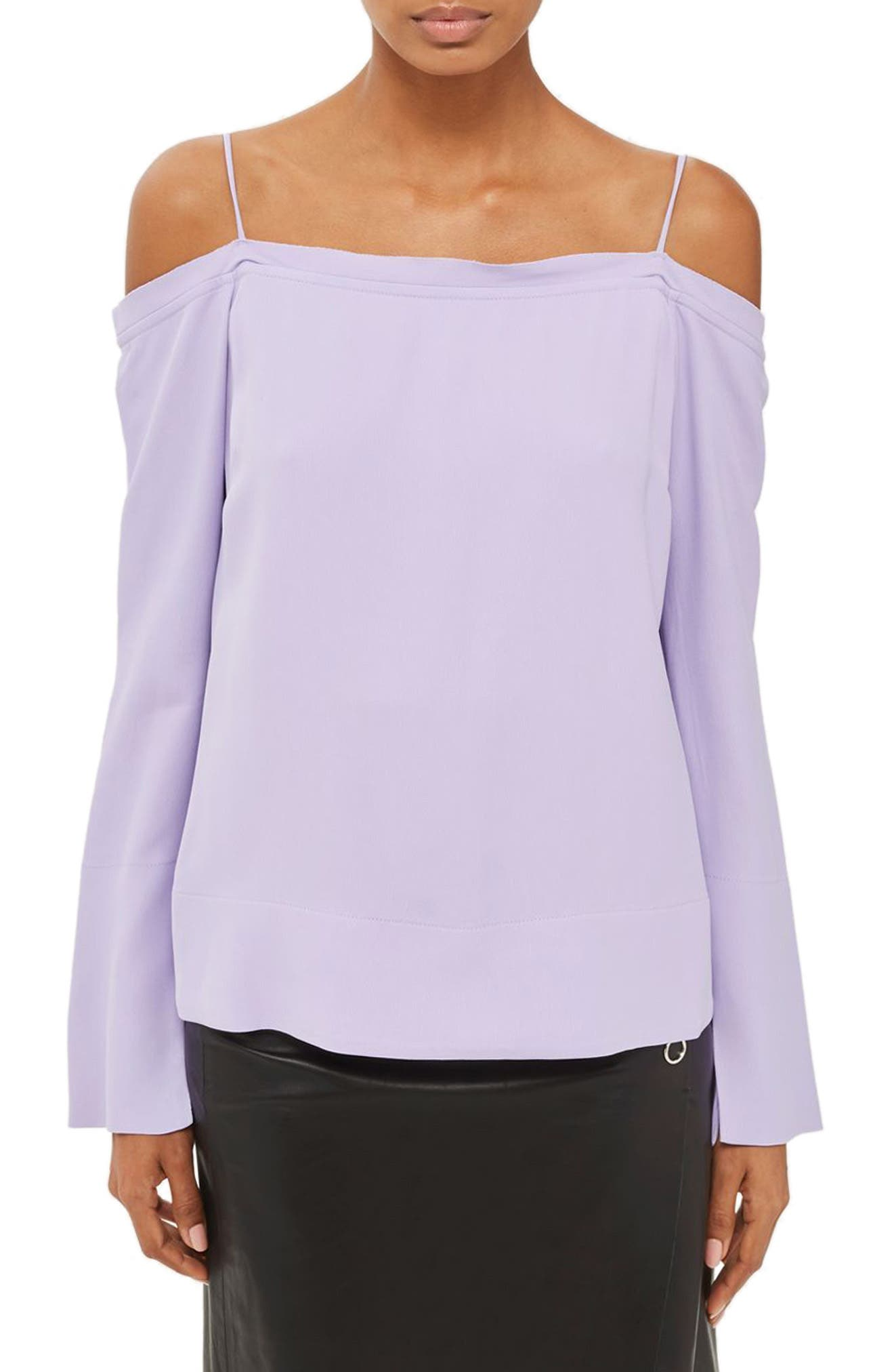 Topshop Boutique Tie Back Off the Shoulder Top