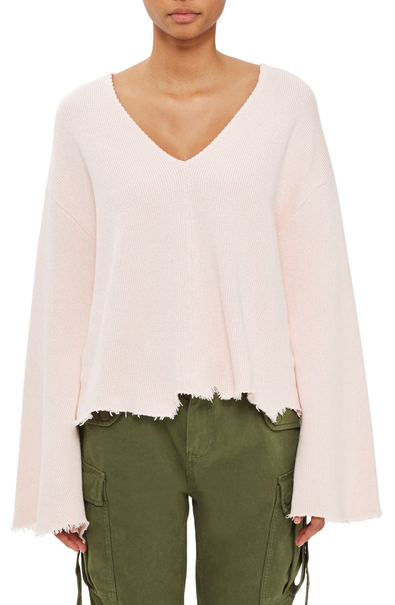 Topshop Boutique Raw Edge Flare Top