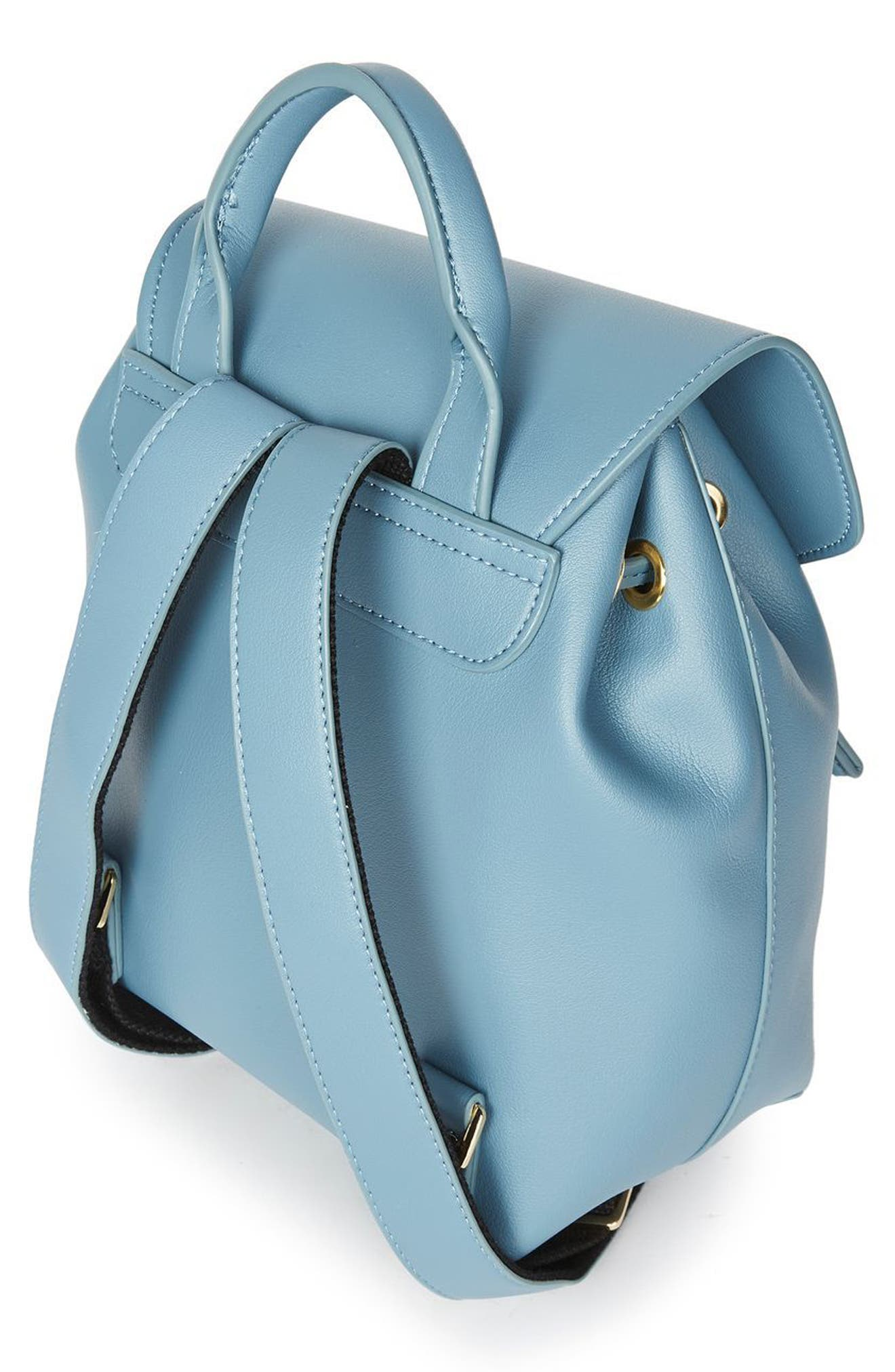Alternate Image 3  - Topshop Blake Mini Faux Leather Backpack