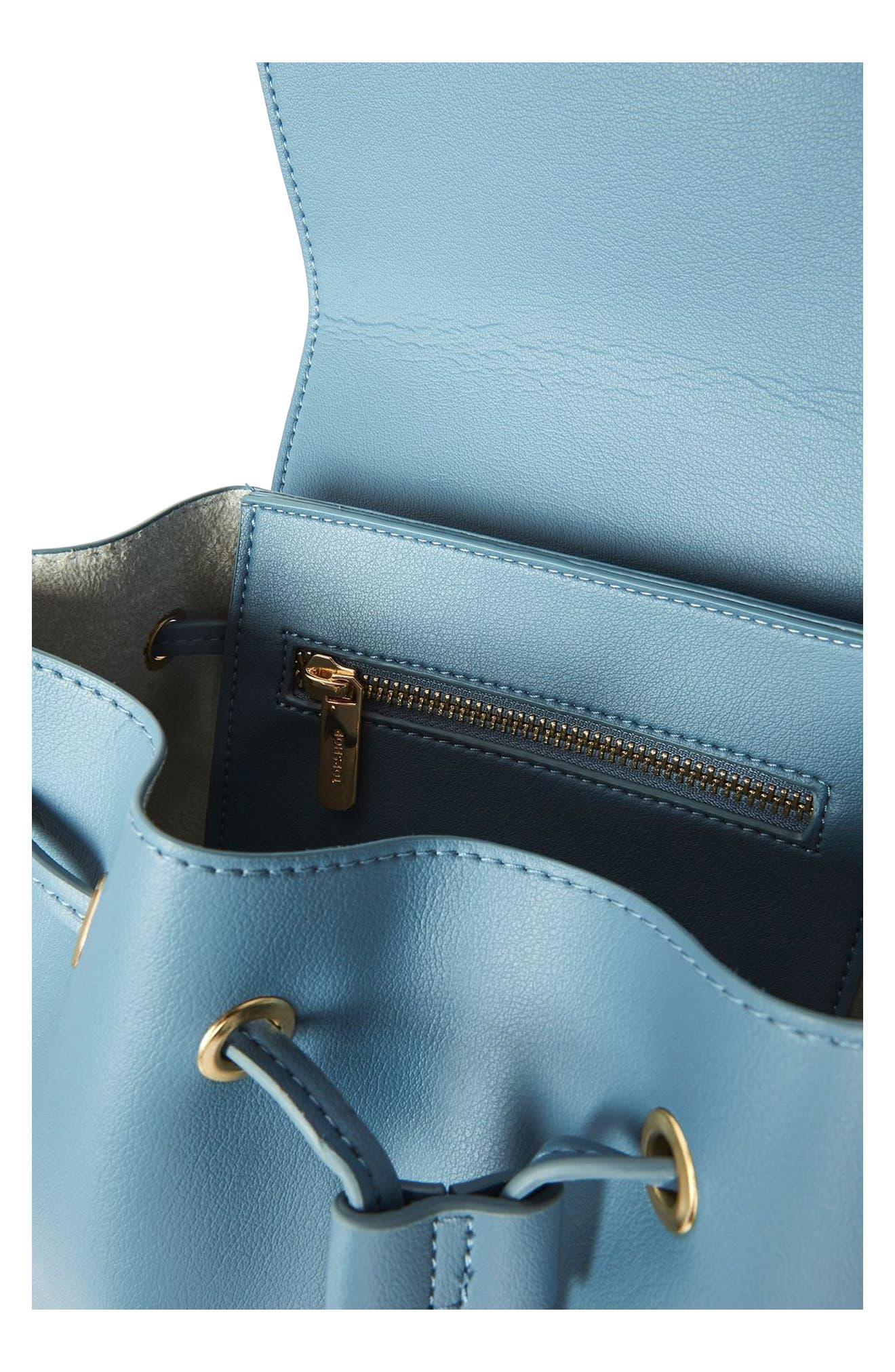 Alternate Image 4  - Topshop Blake Mini Faux Leather Backpack